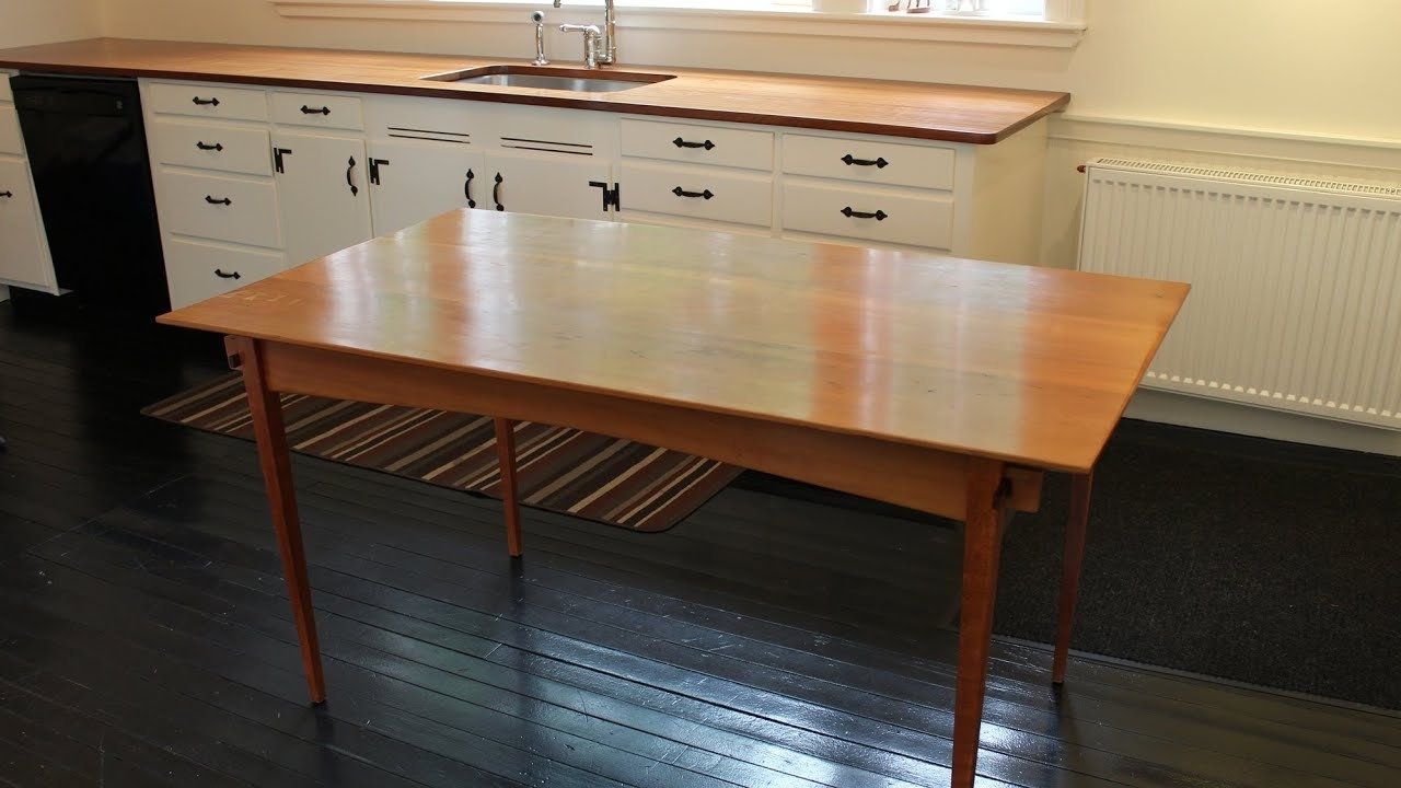 Wood Folding Dining Tables In Well Known How To Design A Collapsible Dining Tablejon Peters – Youtube (View 21 of 25)