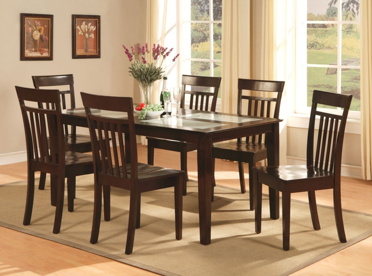 Wooden Dining Tables And 6 Chairs Intended For Most Popular Dining Table And 6 Chairs Dining Table And 6 Chairs Cheap (View 22 of 25)