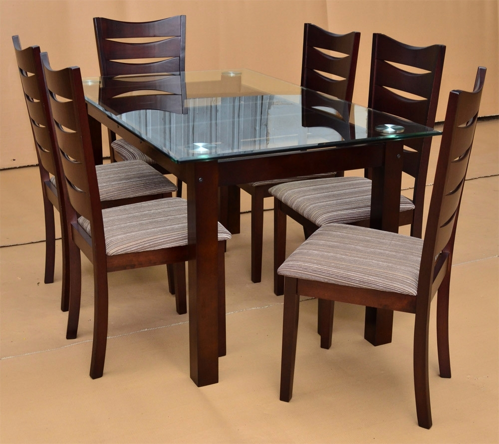 Wooden Glass Dining Tables With Regard To Best And Newest Dining Table Designs Wooden Glass Top – Glass Decorating Ideas (View 24 of 25)