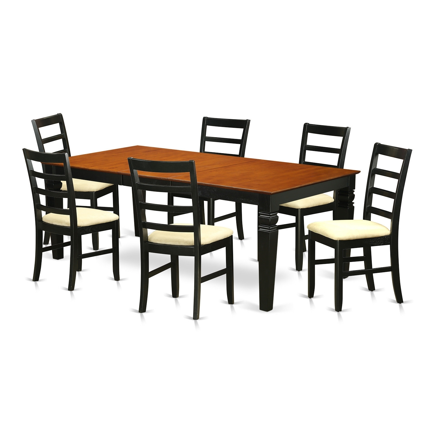 Wooden Importers Logan 7 Piece Dining Set (View 16 of 25)