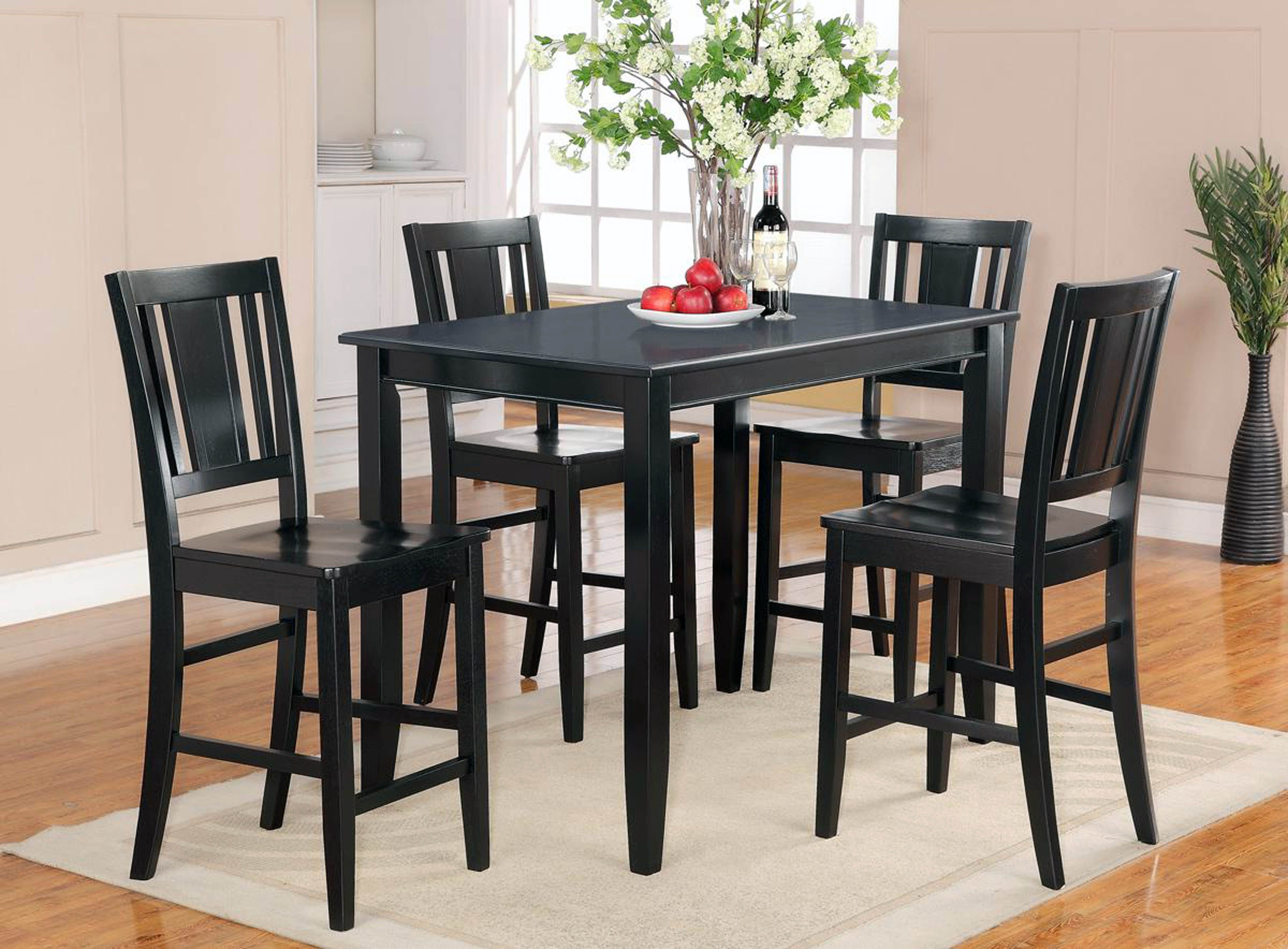Wooden Kitchen Table Round Dining With Leaf Counter Height Small For Best And Newest Small Dark Wood Dining Tables (View 14 of 25)