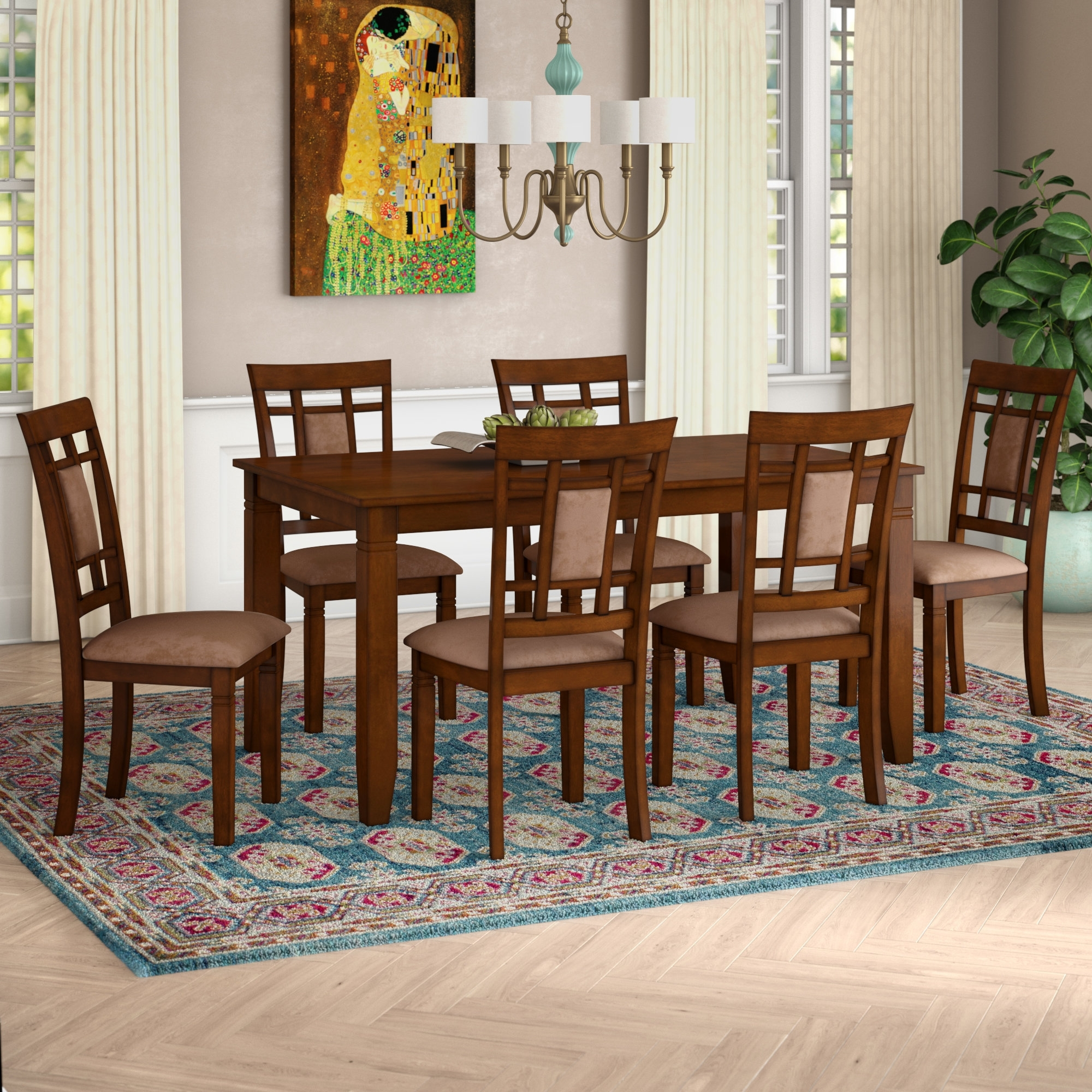 World Menagerie Ighli 7 Piece Dining Set & Reviews (View 14 of 25)