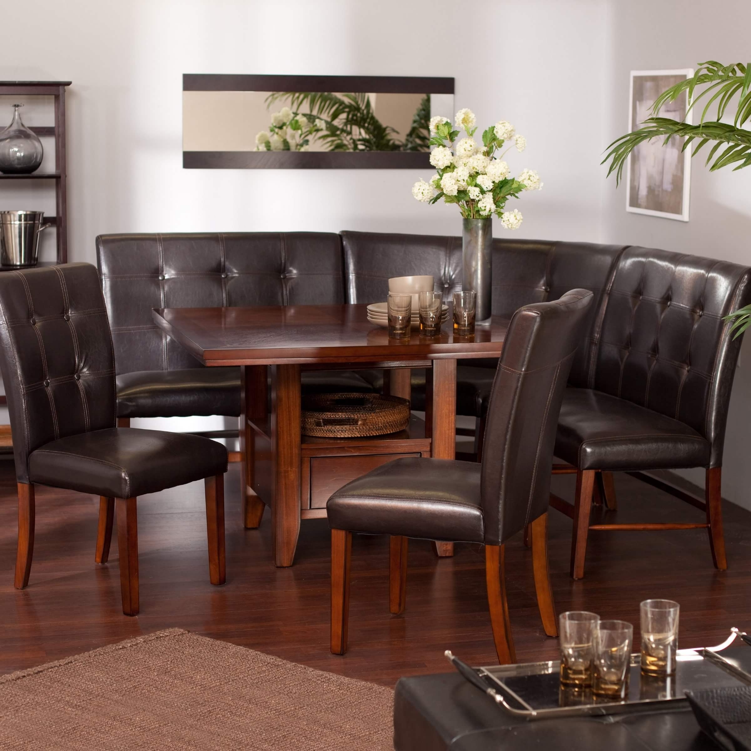 Wow! 30 Space Saving Corner Breakfast Nook Furniture Sets (2018) Within 2017 Dining Tables And 2 Benches (View 9 of 25)