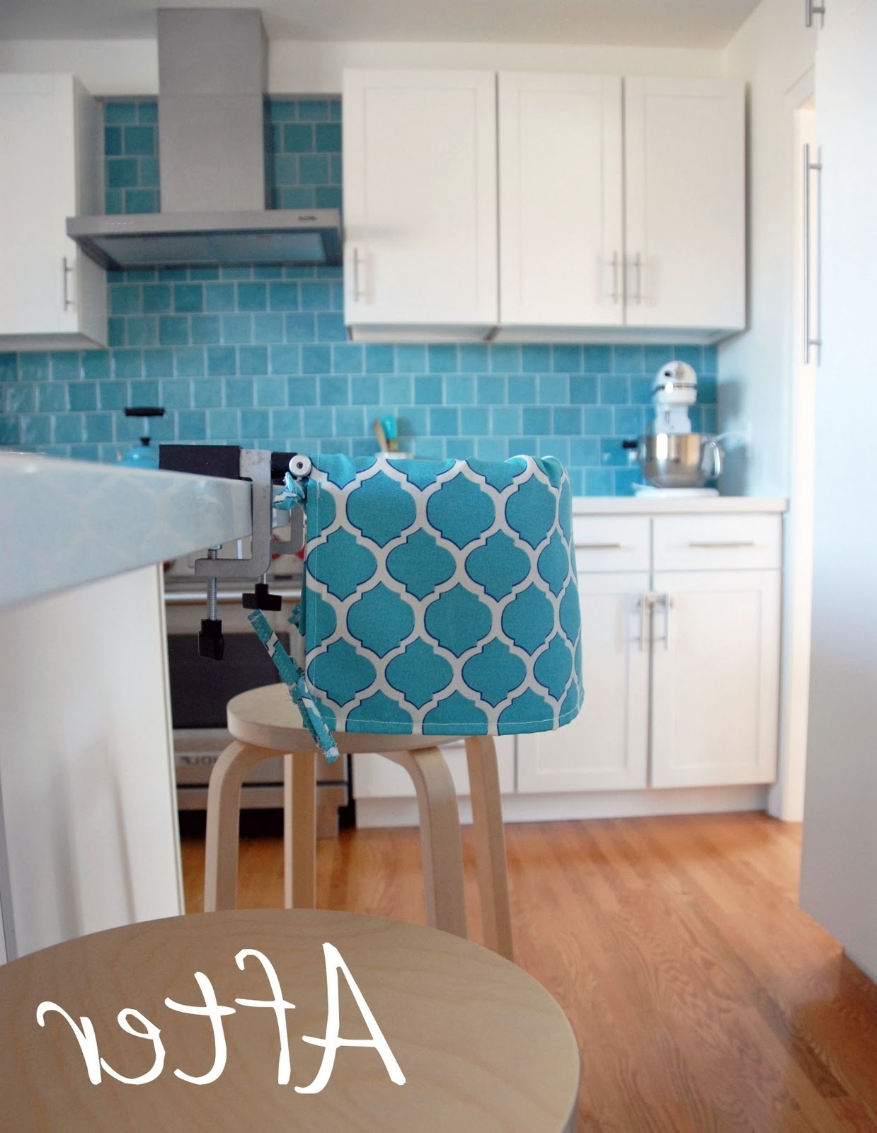 Wyatt 7 Piece Dining Sets With Celler Teal Chairs Regarding Widely Used Nalle's House: Highchair Slipcover How To (View 22 of 25)
