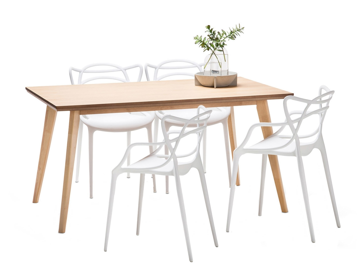 Wyatt Dining Tables For Famous New Wyatt Dining Table Set With 4 Phillipe Starck Master Replica (View 19 of 25)