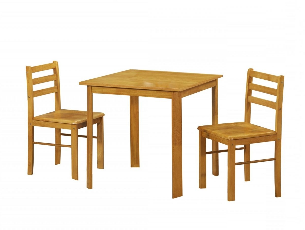 Yellow Dining Table Set With Pair Of Chairs And Square Table Top inside Most Recent Small Dining Tables For 2