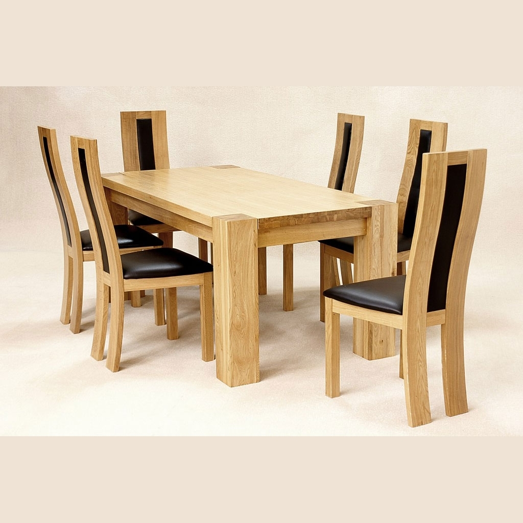 Zeus Oak Dining Set – Fall For Furniture Pertaining To Preferred Chunky Solid Oak Dining Tables And 6 Chairs (View 23 of 25)