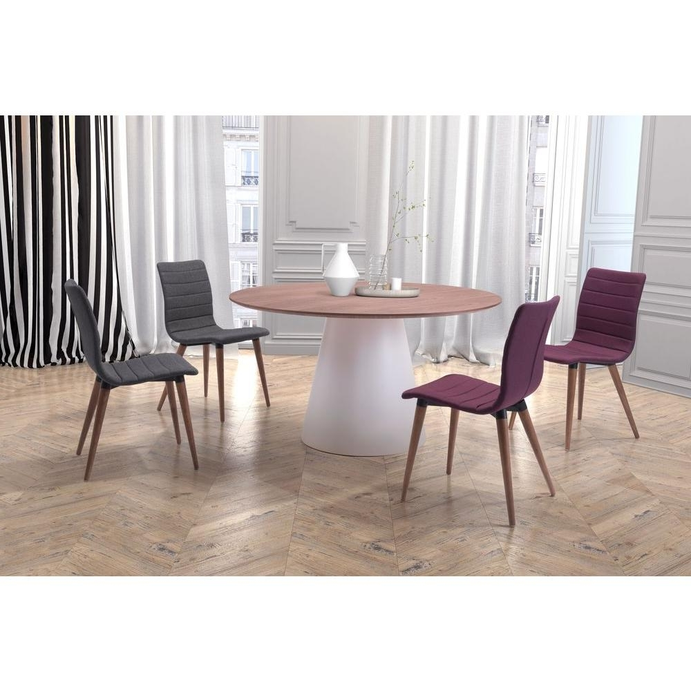 Zuo Jericho Gray Polyblend Dining Chair (Set Of 2) 100274 – The Home Intended For 2018 Dining Tables And Purple Chairs (View 25 of 25)