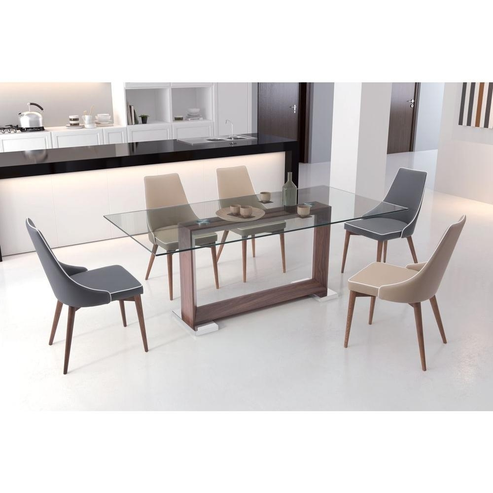 Zuo Oasis Walnut Dining Table 100288 – The Home Depot Within Most Up To Date Glasses Dining Tables (View 13 of 25)