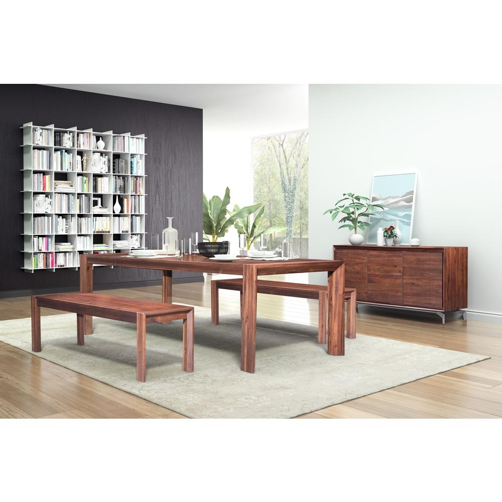 Zuo Perth Chestnut Extendable Dining Table 100588 – The Home Depot Inside Most Recently Released Perth Dining Tables (View 3 of 25)