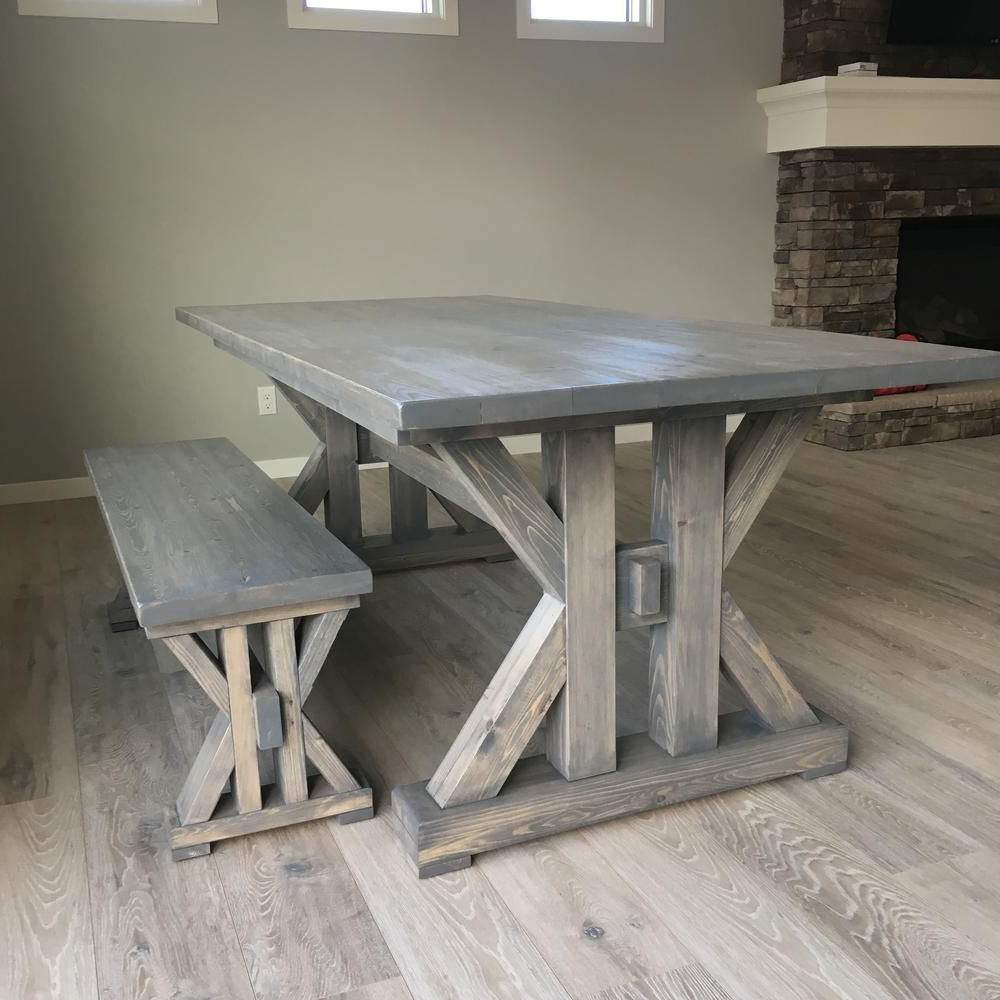 13 Free Diy Woodworking Plans For A Farmhouse Table Inside Well Liked Falmer 3 Piece Solid Wood Dining Sets (View 19 of 25)