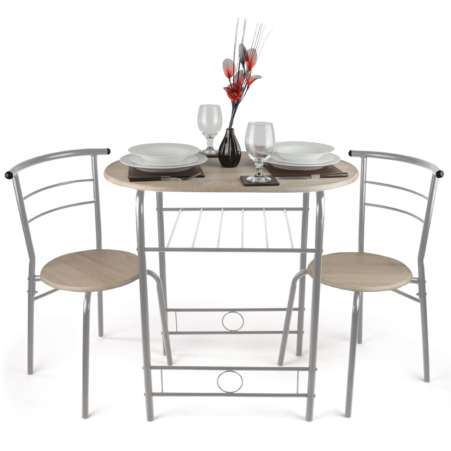 2019 3 Piece Breakfast Dining Sets For 3 Piece Dining Set Breakfast Bar Kitchen Table Chairs Two Person (View 6 of 25)