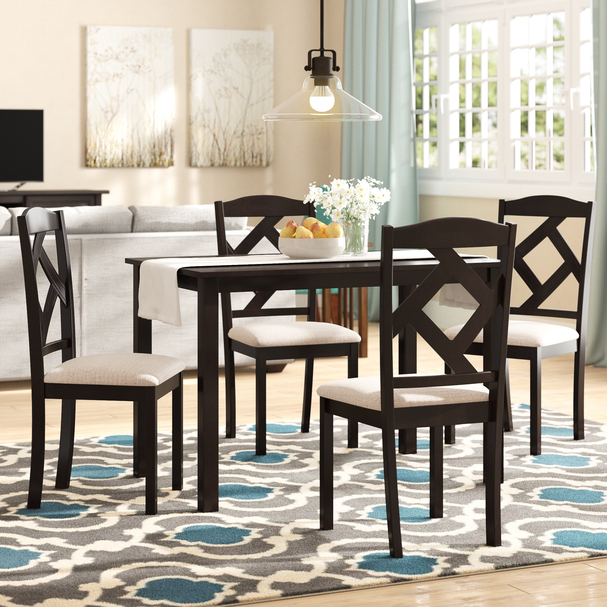 2019 5 Piece Breakfast Nook Dining Sets Pertaining To Red Barrel Studio Goosman Modern And Contemporary 5 Piece Breakfast (View 1 of 25)