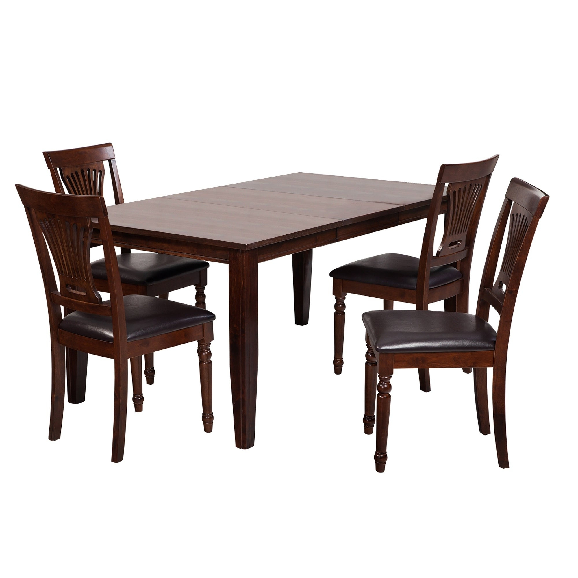 """2019 Adan 5 Piece Solid Wood Dining Sets (Set Of 5) Regarding Shop 5 Piece Solid Wood Dining Set """"aden"""", Modern Kitchen Table Set (View 1 of 25)"""