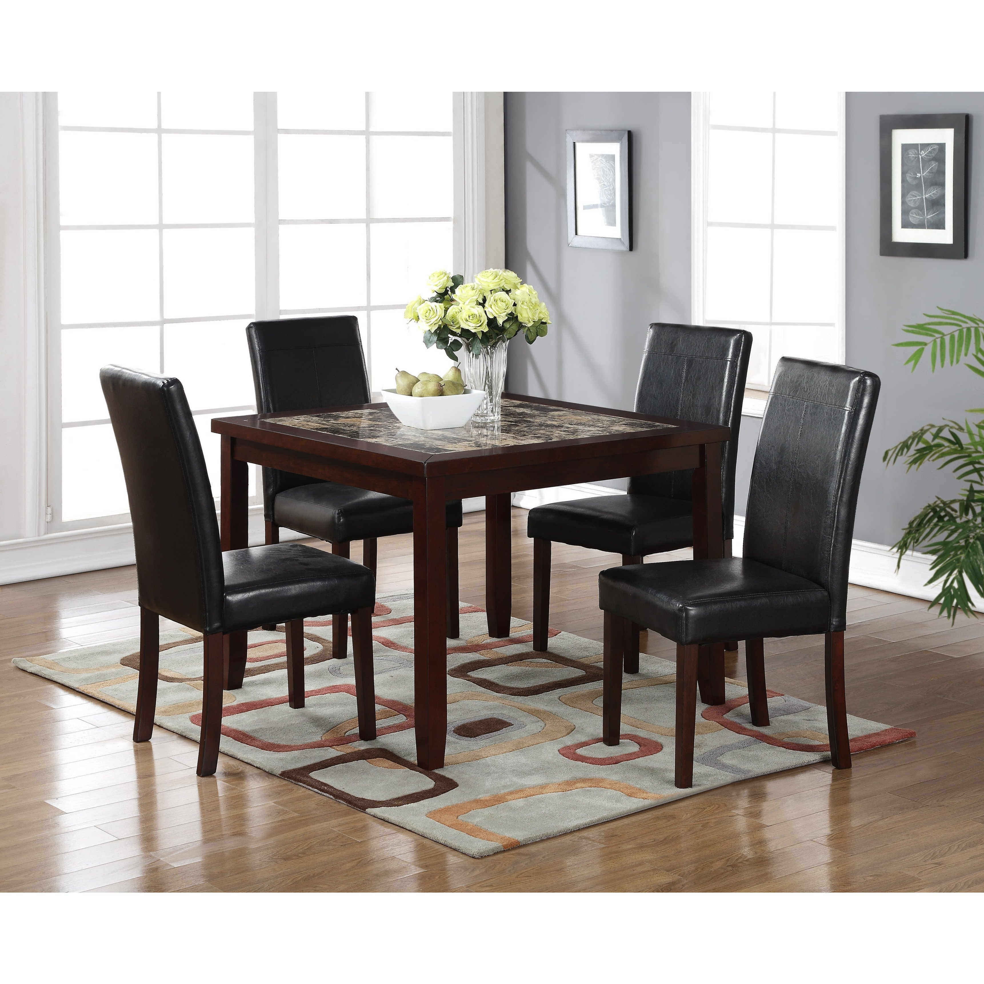 2019 Aria 5 Piece Dining Sets With Shop Lyke Home Aria 5 Piece Square Pub Dining Set – Free Shipping (View 3 of 25)