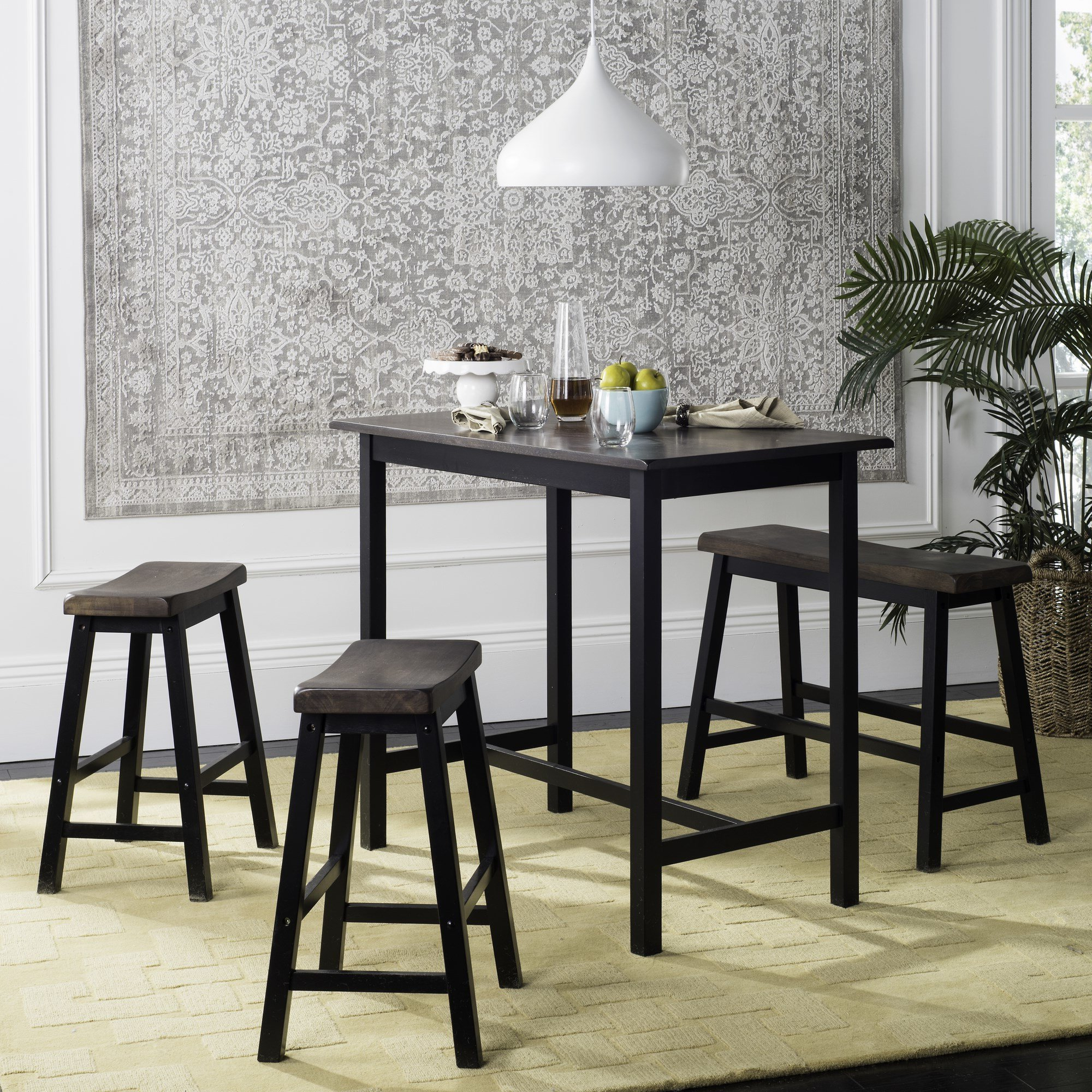 2019 Berrios 3 Piece Counter Height Dining Sets In Chelsey 4 Piece Dining Set & Reviews (View 16 of 25)