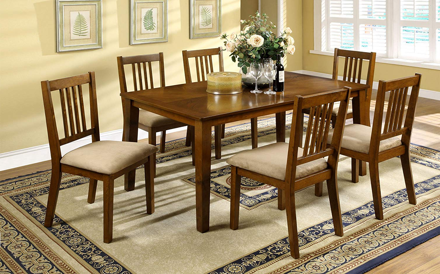 2019 Calla 5 Piece Dining Sets In Amazon – Furniture Of America Erin 7 Piece Dining Table Set (View 12 of 25)
