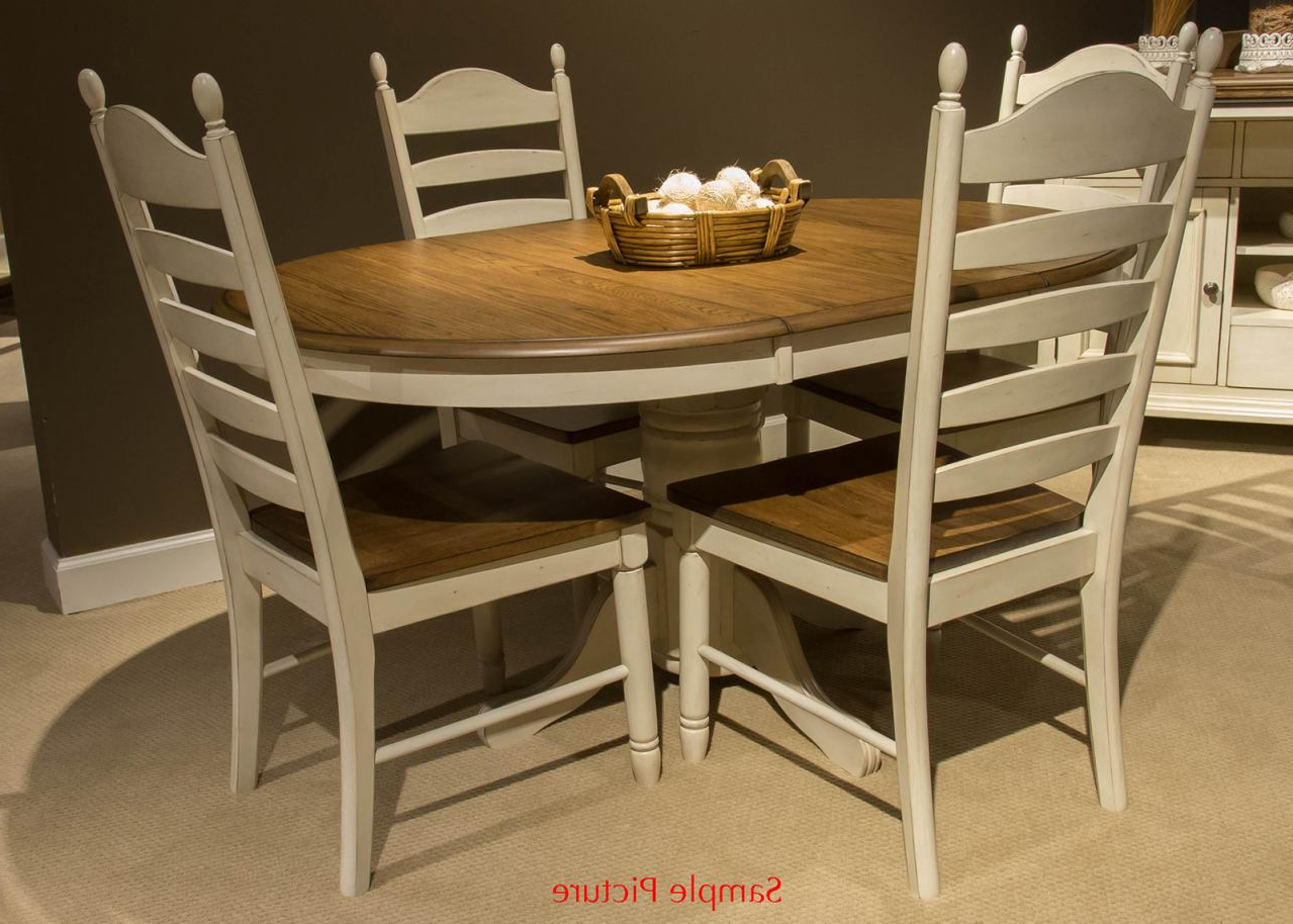 2019 Liberty Furniture Springfield 7Pc Pedestal Dining Set In Honey And Intended For Springfield 3 Piece Dining Sets (View 1 of 25)