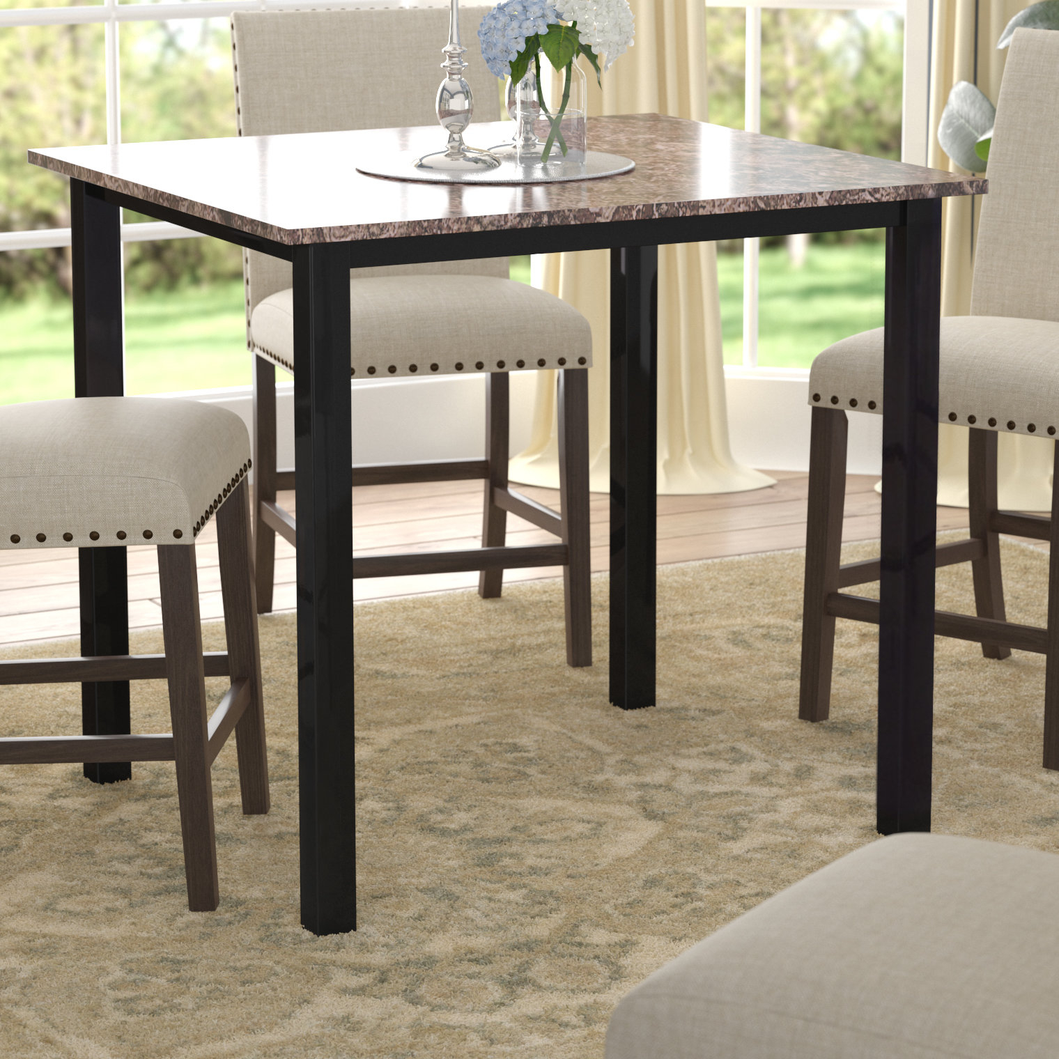 2019 Red Barrel Studio Noyes Counter Height Dining Table & Reviews (View 3 of 25)
