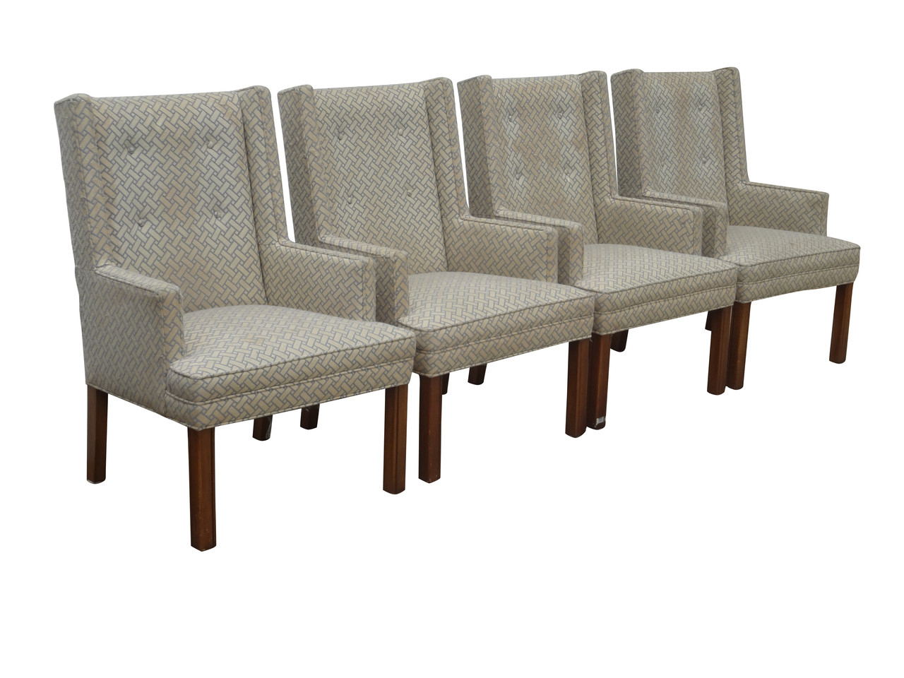 2019 S/4 John Widdicomb Parsons Dining Chairs - Nueve- Grand Rapids for John 4 Piece Dining Sets