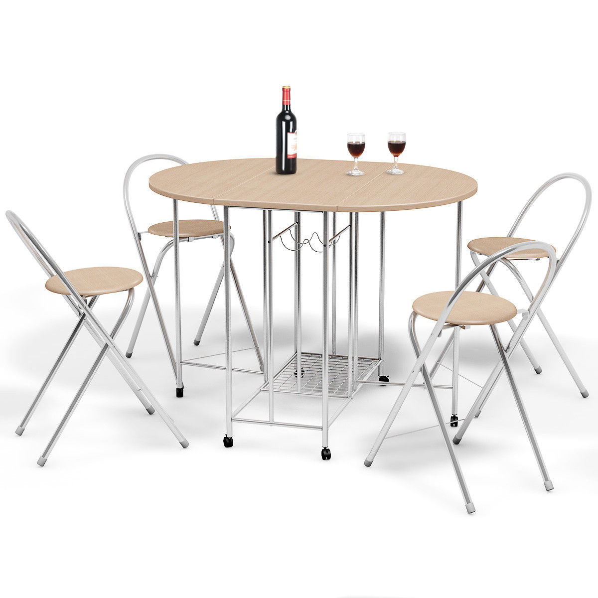 2019 Symple Stuff Holderman 5 Piece Counter Height Extendable Dining Set for Mulvey 5 Piece Dining Sets