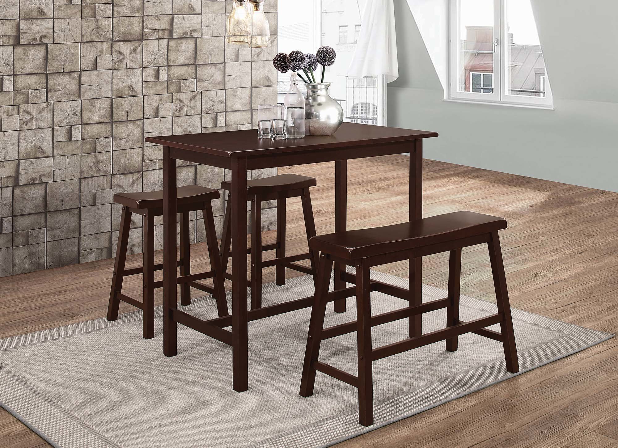 2019 Winston Porter Tassone 4 Piece Dining Set (View 2 of 25)