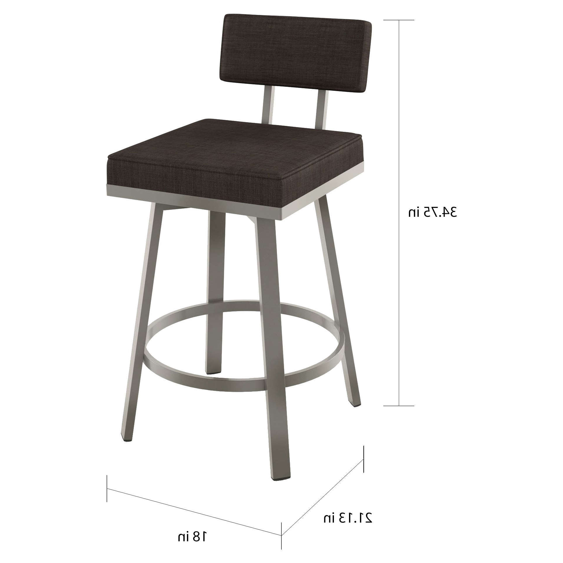 2020 Askern 3 Piece Counter Height Dining Sets (Set Of 3) Regarding Shop Amisco Staten Counter Swivel Metal Stool 26 Inch – Free (View 21 of 25)