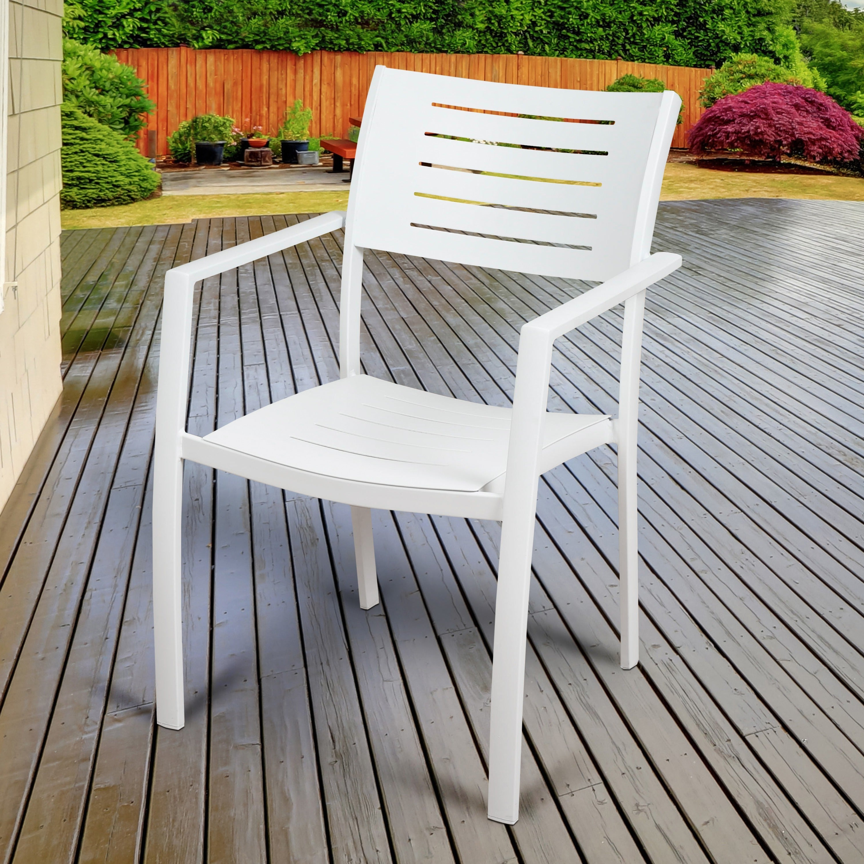 2020 John 4 Piece Dining Sets for Shop Havenside Home Mandalay 4-Piece Patio Dining Chairs, White - On