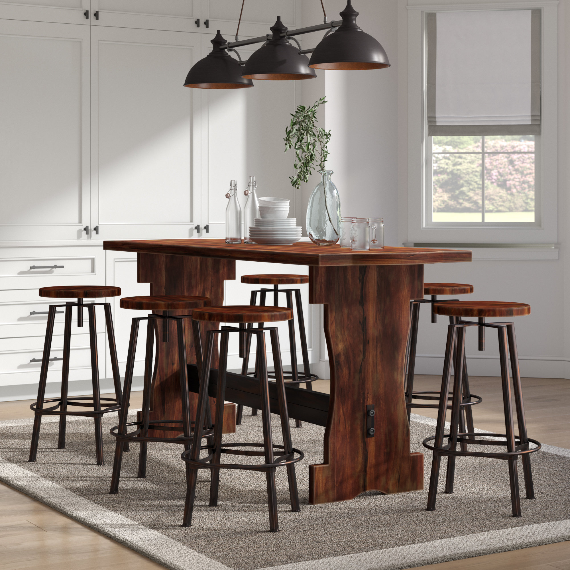 2020 Laurel Foundry Modern Farmhouse Connery 7 Piece Counter Height Pub For Winsted 4 Piece Counter Height Dining Sets (View 17 of 25)
