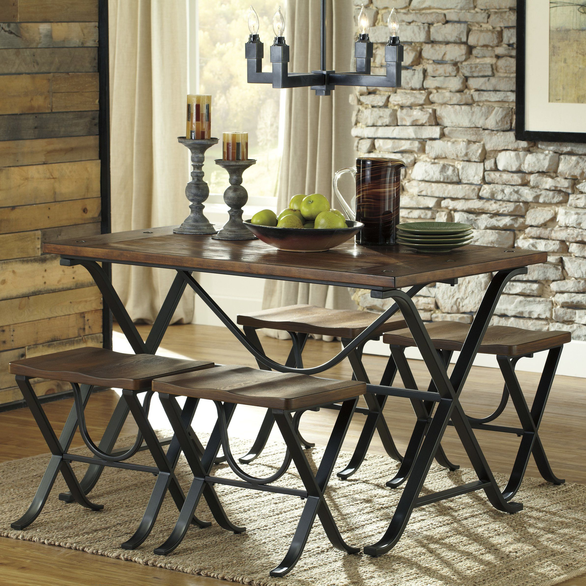 2020 Loon Peak® Jaden 5 Piece Dining Set (View 7 of 25)