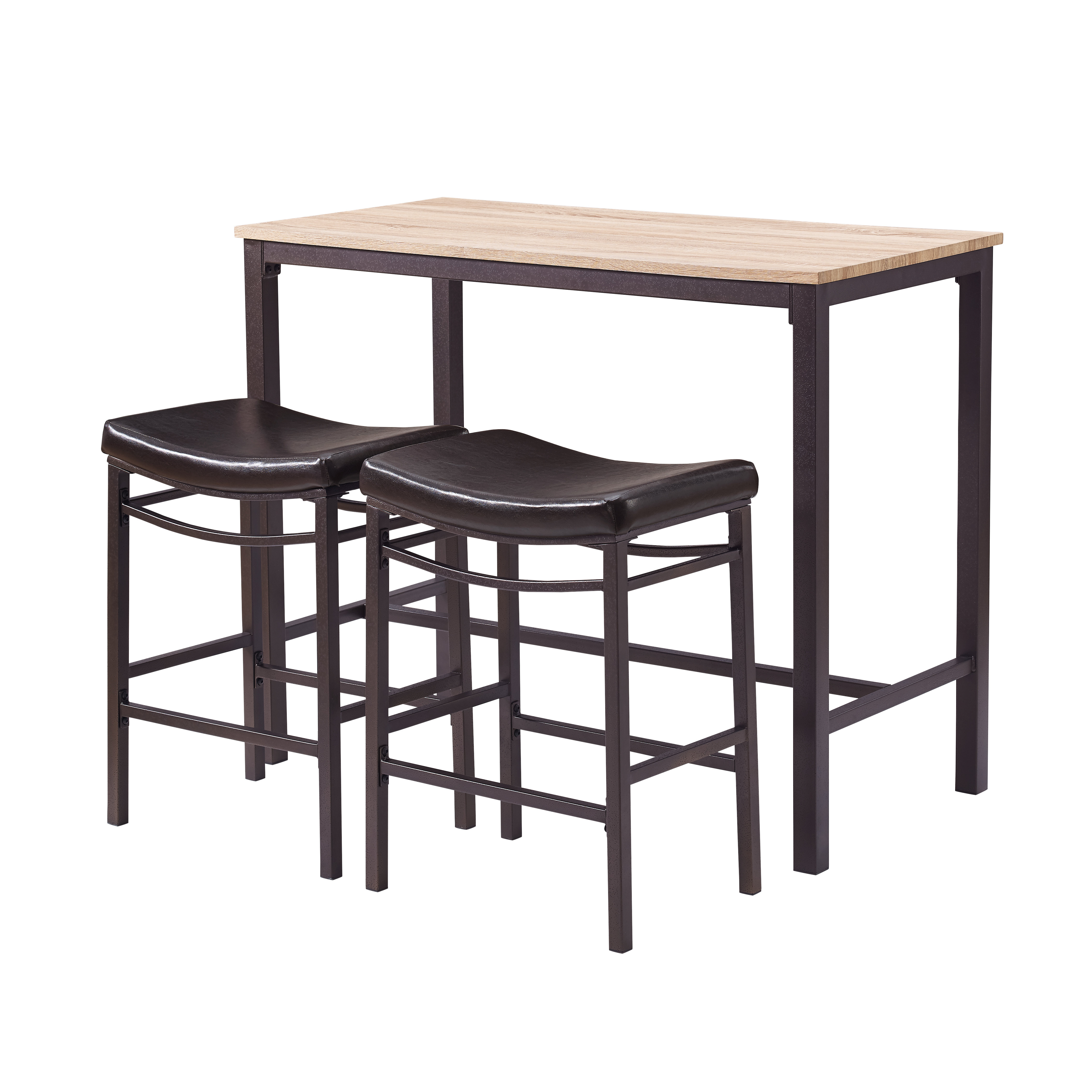 2020 Nutter 3 Piece Dining Sets Intended For Bezons 3 Piece Pub Table Set (View 1 of 25)