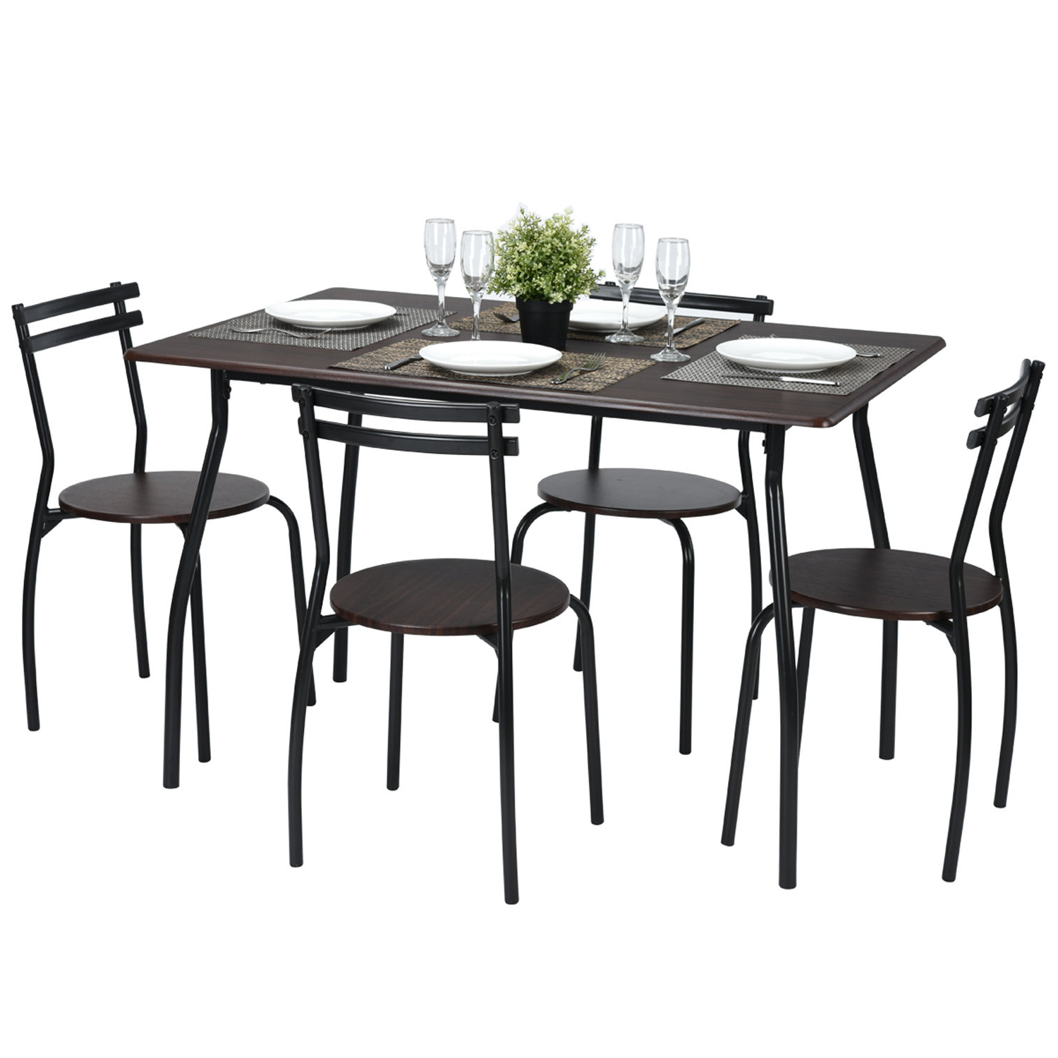 2020 Tarleton 5 Piece Dining Sets Regarding Ebern Designs Tarleton 5 Piece Dining Set (View 2 of 25)