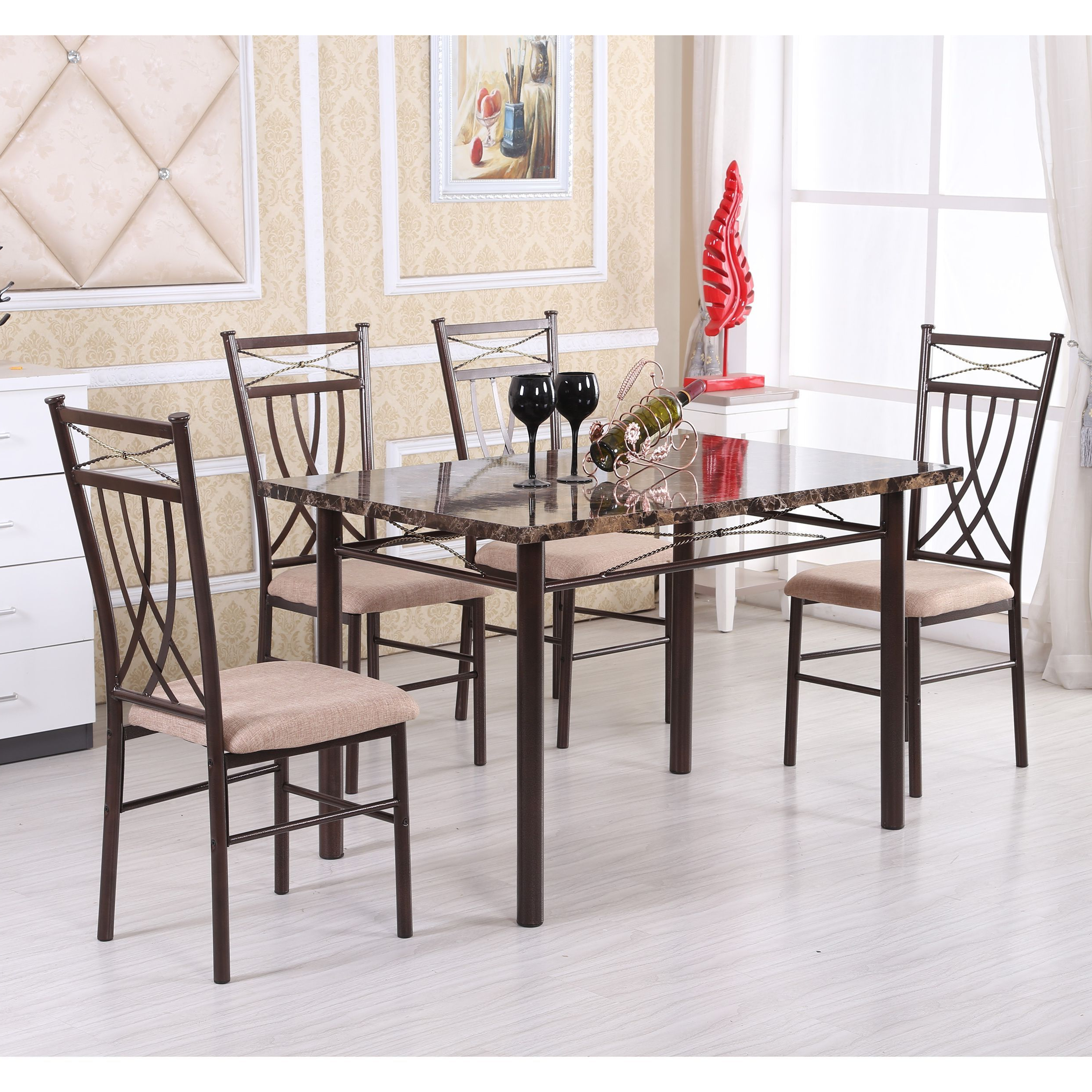 2020 Update Your Dining Room With This Classic Five Piece Dining Set Intended For Kieffer 5 Piece Dining Sets (View 5 of 25)