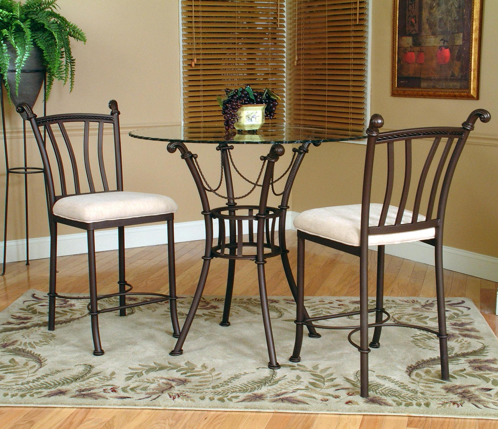 3 Piece Dining Sets In Recent Cramco, Inc Denali 3 Piece Counter Height Glass Table And Chair (View 21 of 25)