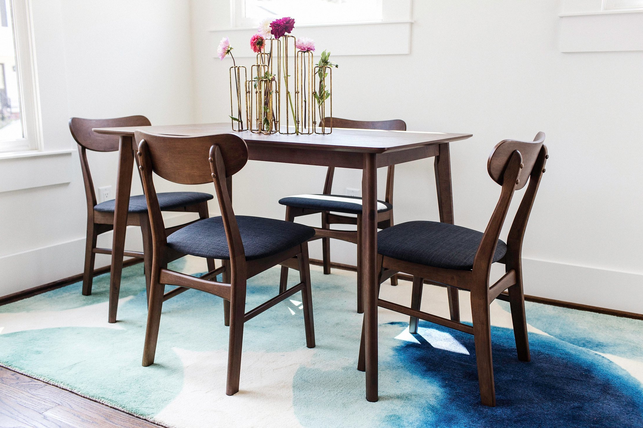 5 Piece Breakfast Nook Dining Sets Throughout Best And Newest George Oliver Velazquez 5 Piece Breakfast Nook Dining Set & Reviews (View 4 of 25)