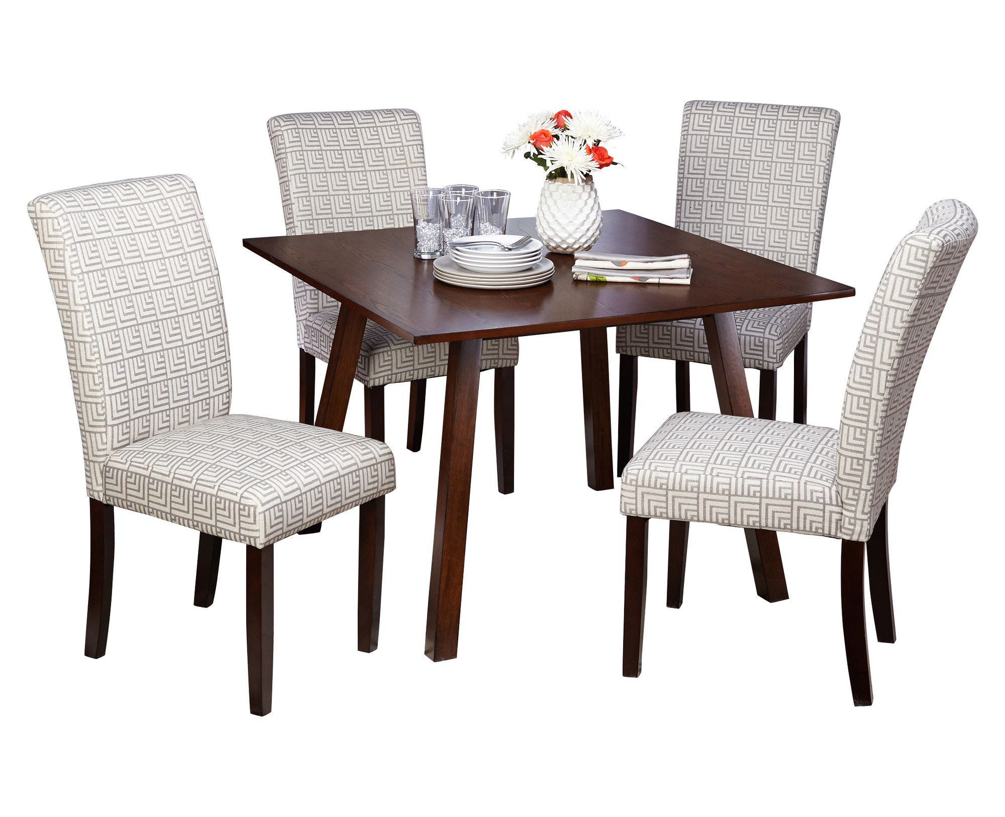 5 Piece Dining Set, Dining Within Newest Kaelin 5 Piece Dining Sets (View 2 of 25)
