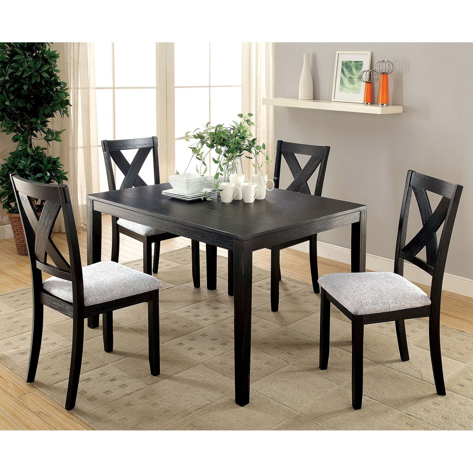 5 Piece Dining Sets Pertaining To Fashionable Furniture Of America Glenham 5 Piece Dining Table Set (View 17 of 25)