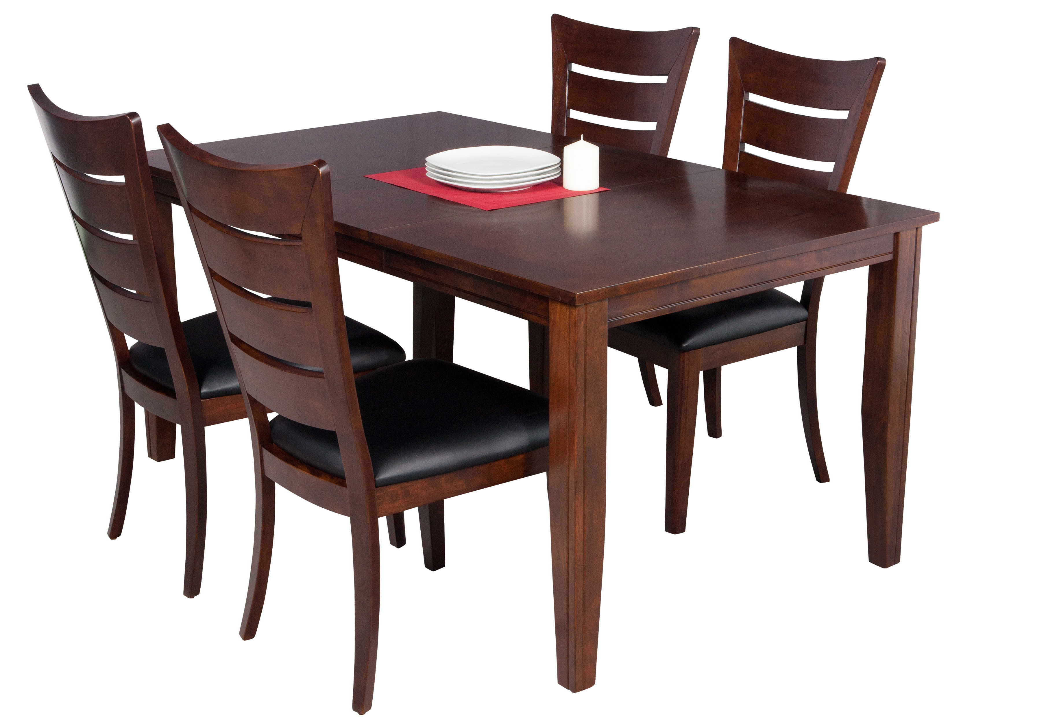 Adan 5 Piece Solid Wood Dining Sets (Set Of 5) In Most Popular Ttpfurnish Aden 5 Piece Solid Wood Dining Set (View 3 of 25)