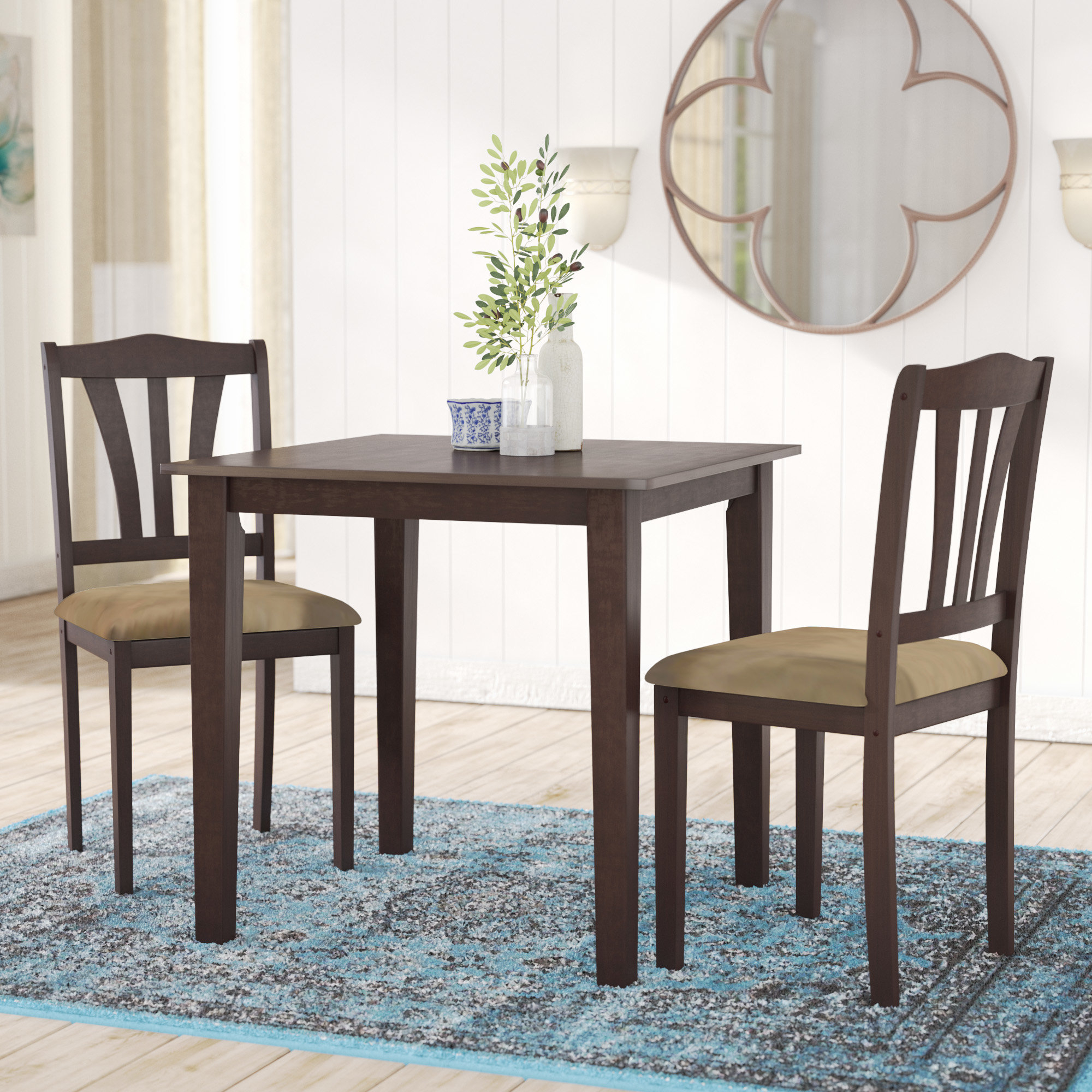 Alcott Hill Dinah 3 Piece Dining Set (View 11 of 25)