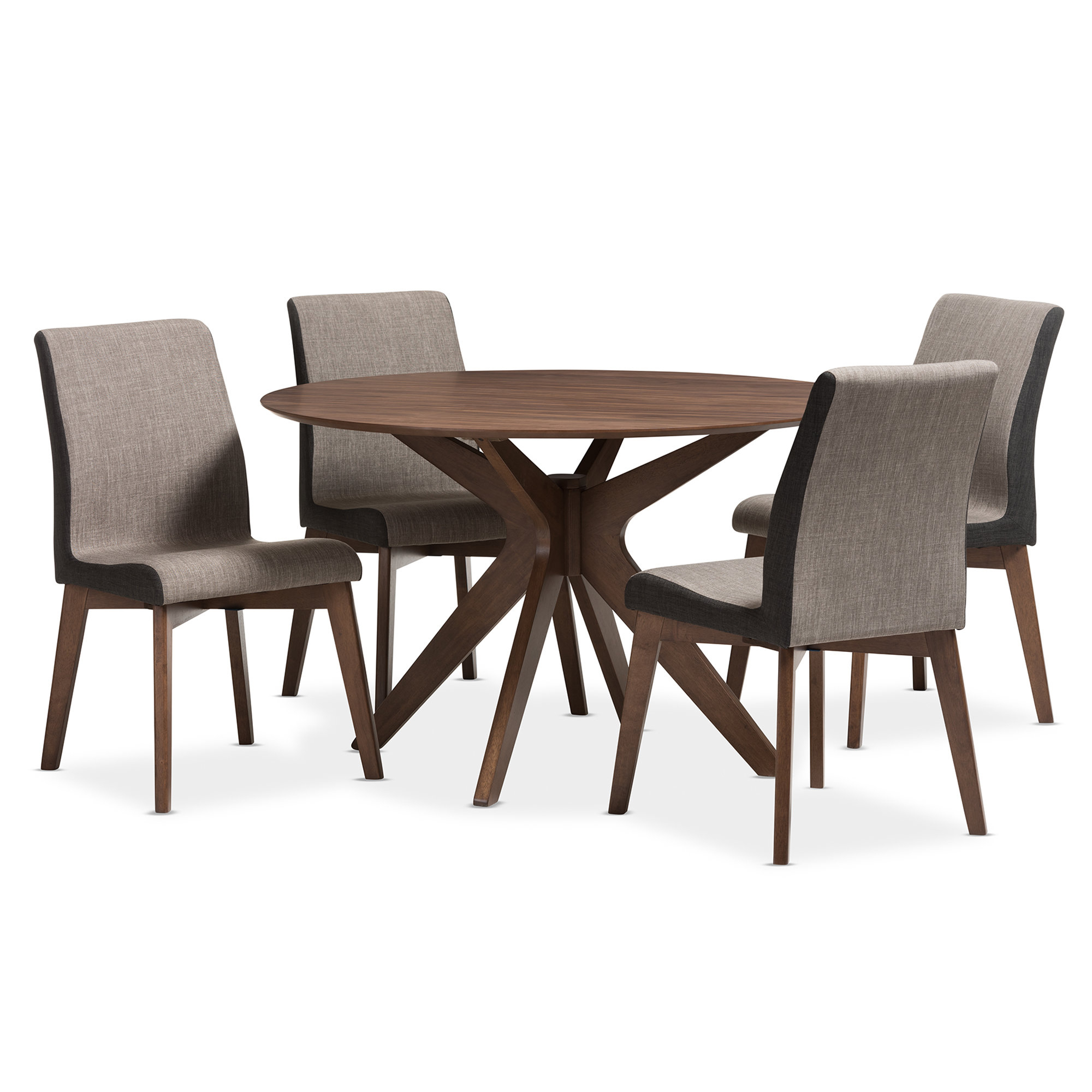 Allmodern With Regard To Evellen 5 Piece Solid Wood Dining Sets (Set Of 5) (View 2 of 25)