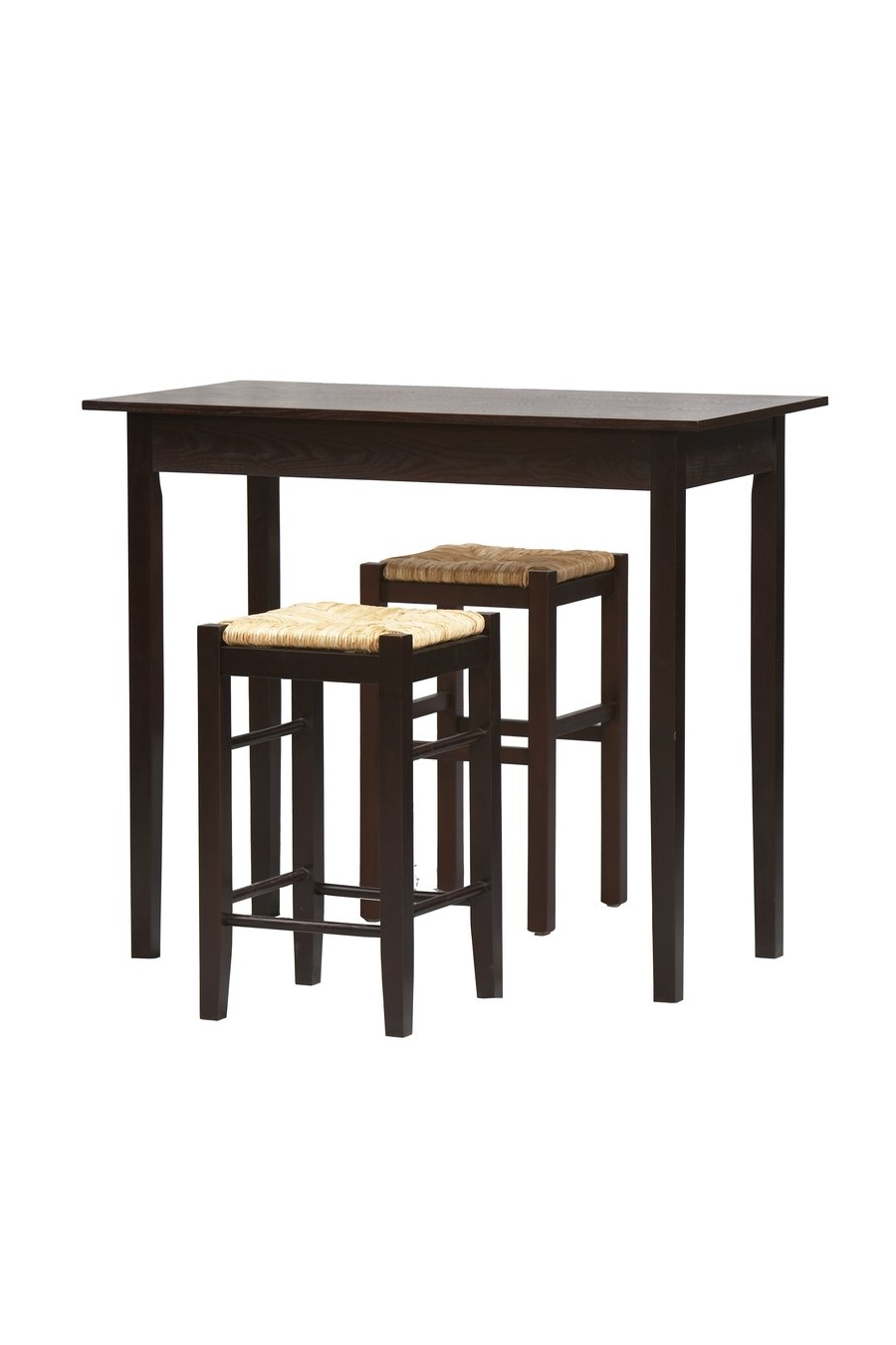 Amazon – 3 Pc Counter Dining Set In Espresso Finish – Table Intended For Most Recently Released Tappahannock 3 Piece Counter Height Dining Sets (View 6 of 25)