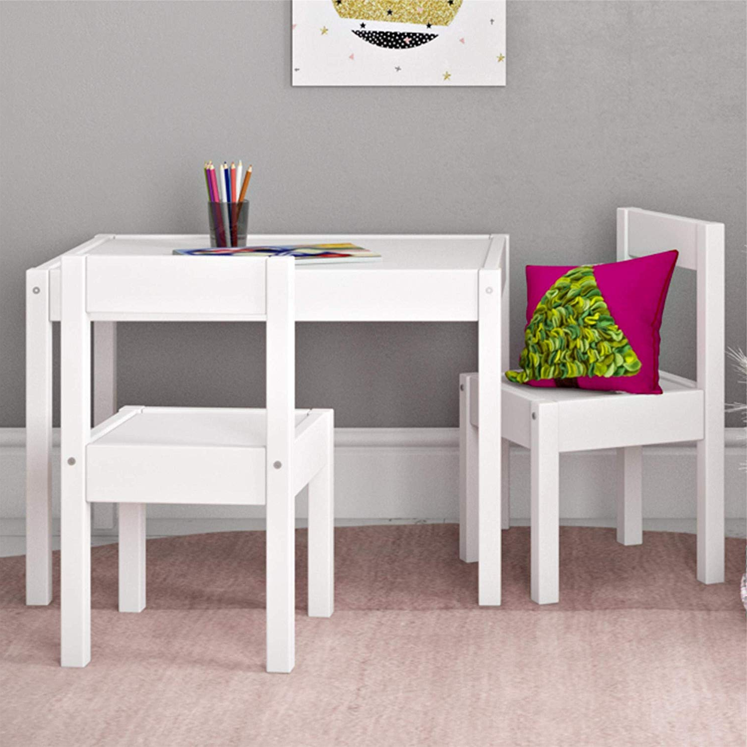 Amazon: Baby Relax Hunter 3 Piece Kiddy Table And Chair Set Regarding Popular Springfield 3 Piece Dining Sets (View 4 of 25)