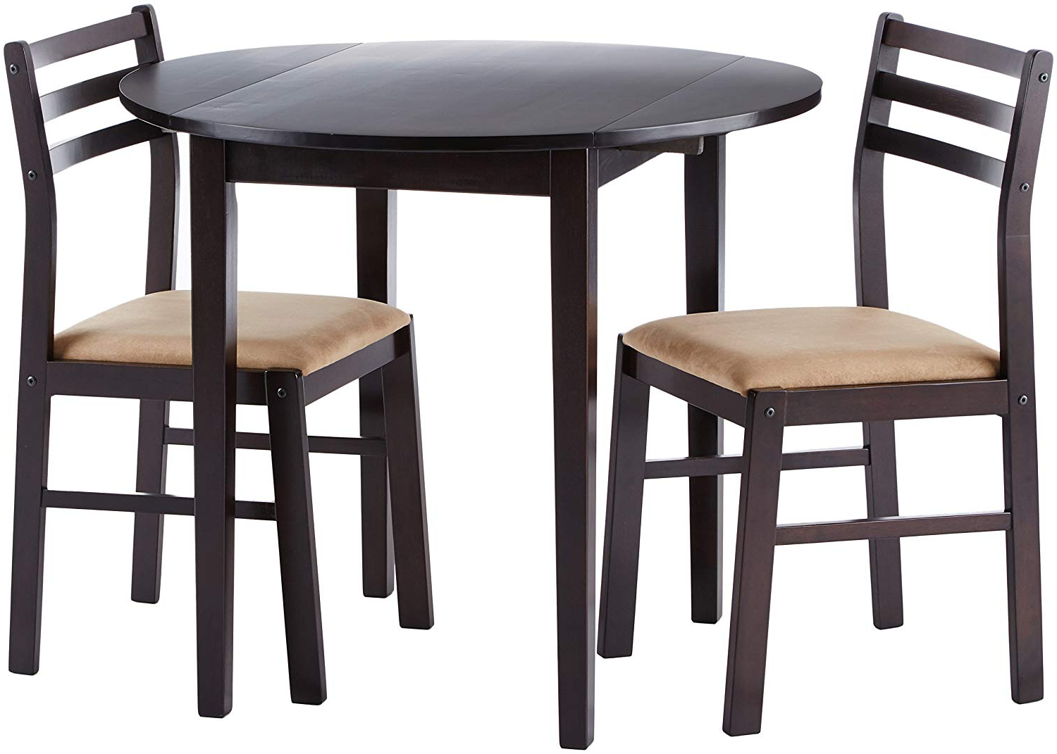 Amazon - Coaster Home Furnishings 3-Piece Dining Set With Drop with Most Recent Rossiter 3 Piece Dining Sets