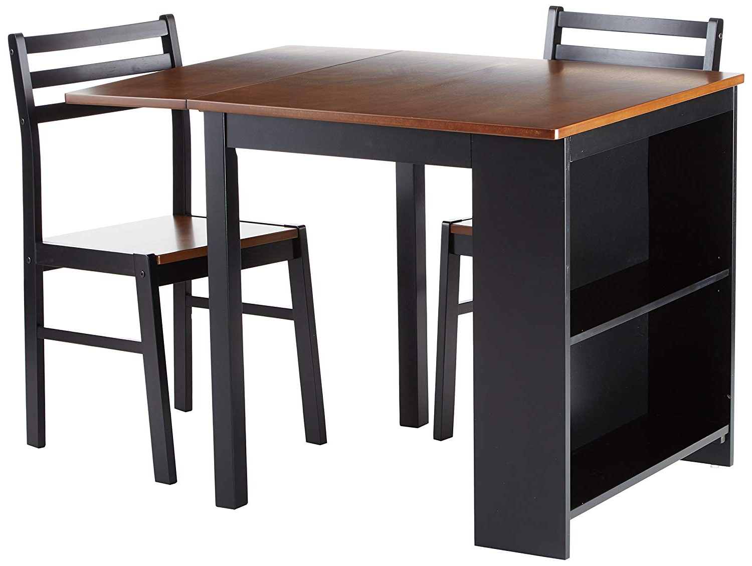 Amazon – Persia 3 Piece Breakfast Dining Set Brown And Black In Most Recent 3 Piece Dining Sets (View 14 of 25)