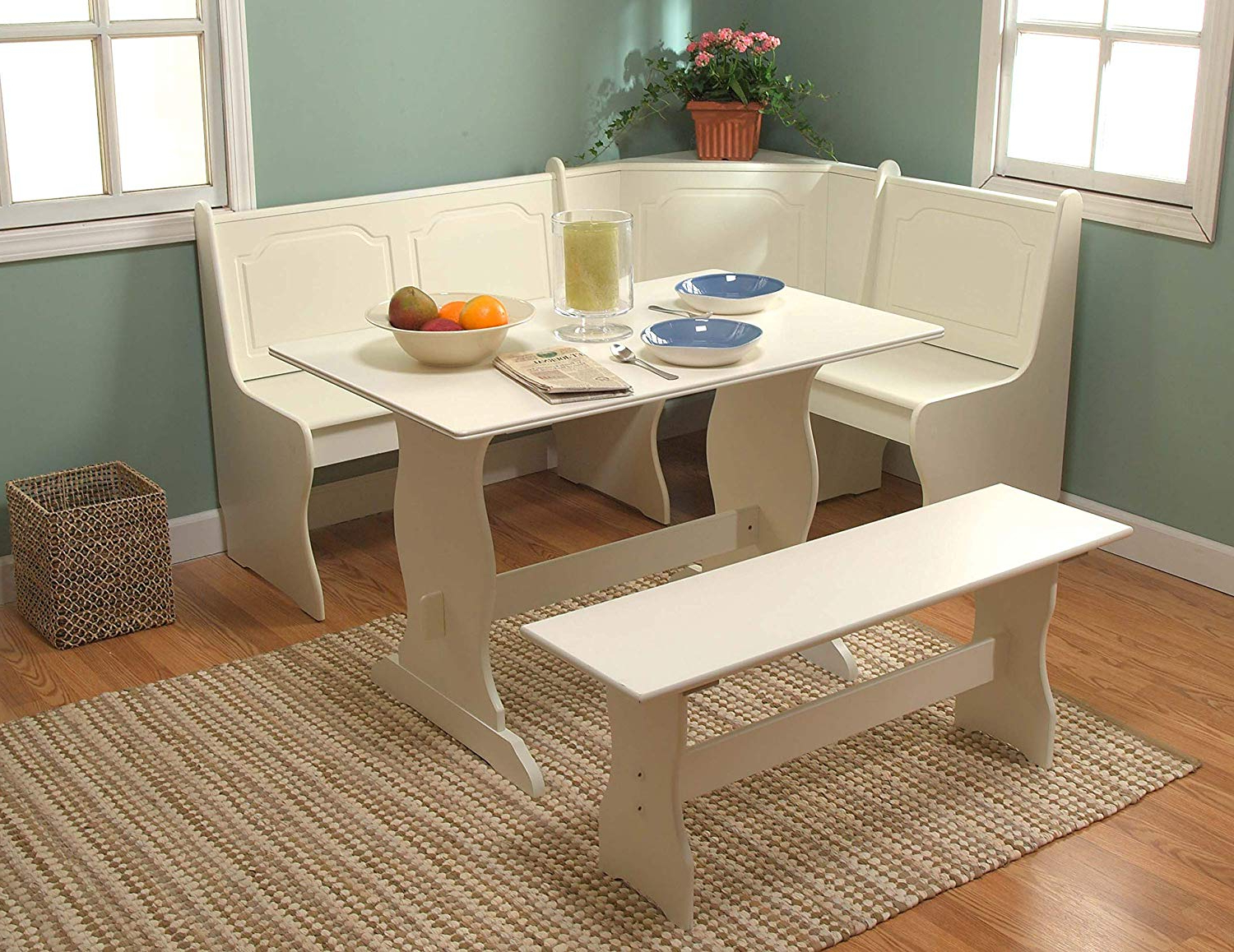 Amazon: Target Marketing Systems 3 Piece Breakfast Nook Dining Pertaining To Favorite 3 Piece Breakfast Dining Sets (View 25 of 25)