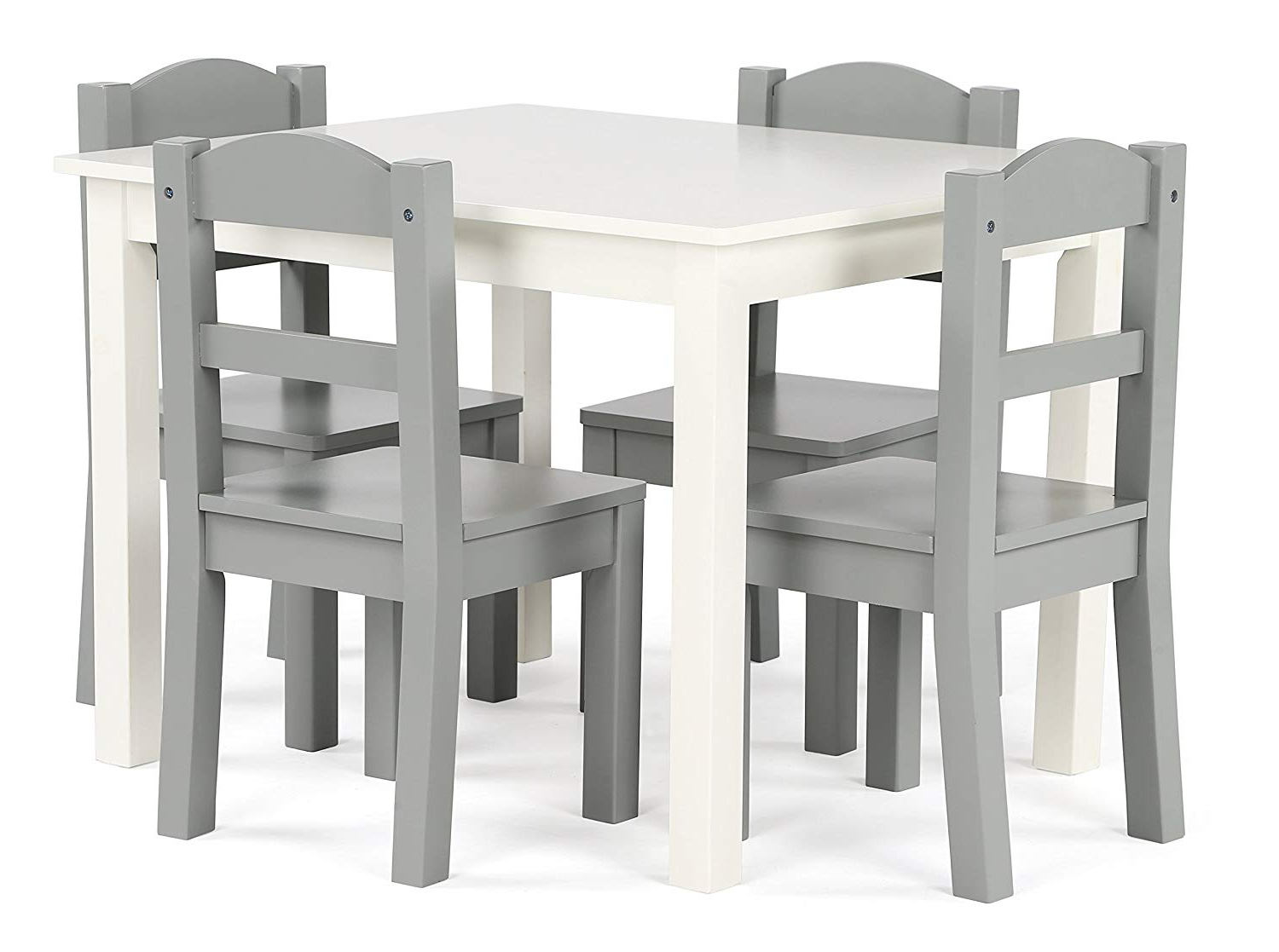 Amazon: Tot Tutors Tc534 Springfield Collection Kids Wood Table Pertaining To Trendy Springfield 3 Piece Dining Sets (View 6 of 25)