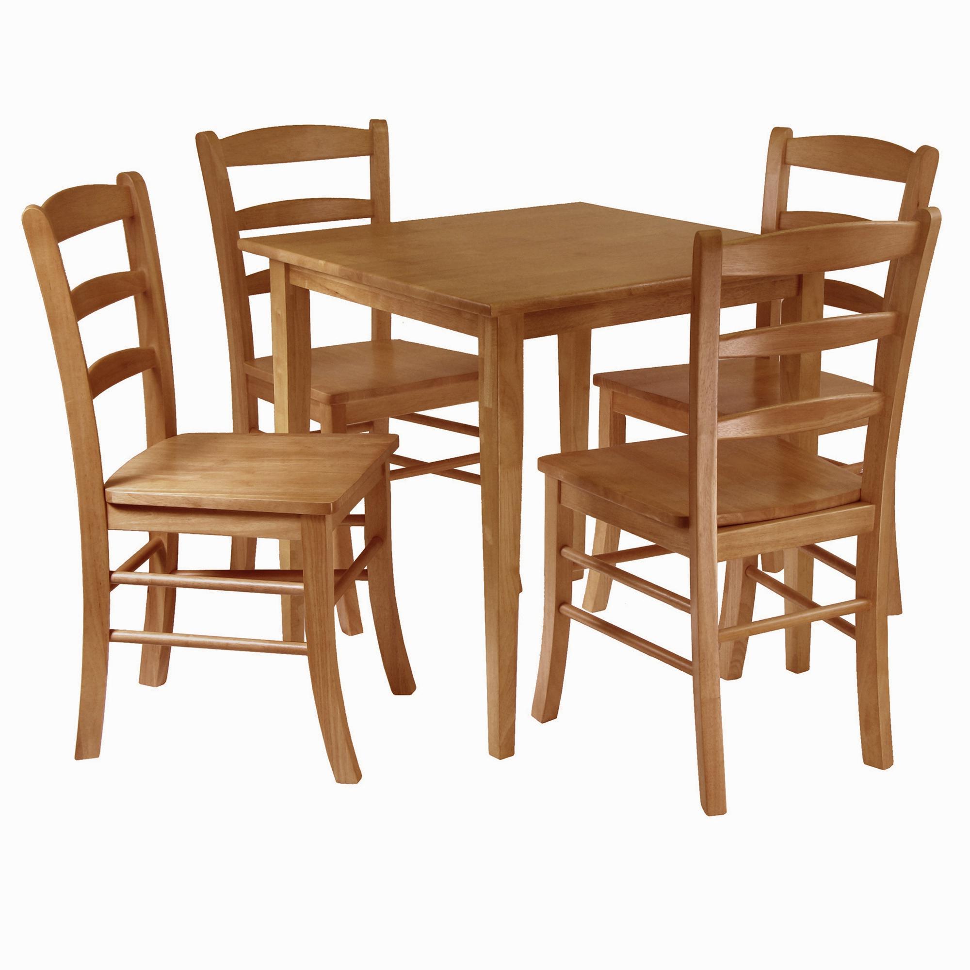 Amazon – Winsome Groveland 5 Piece Wood Dining Set, Light Oak Regarding Recent Sundberg 5 Piece Solid Wood Dining Sets (View 3 of 25)