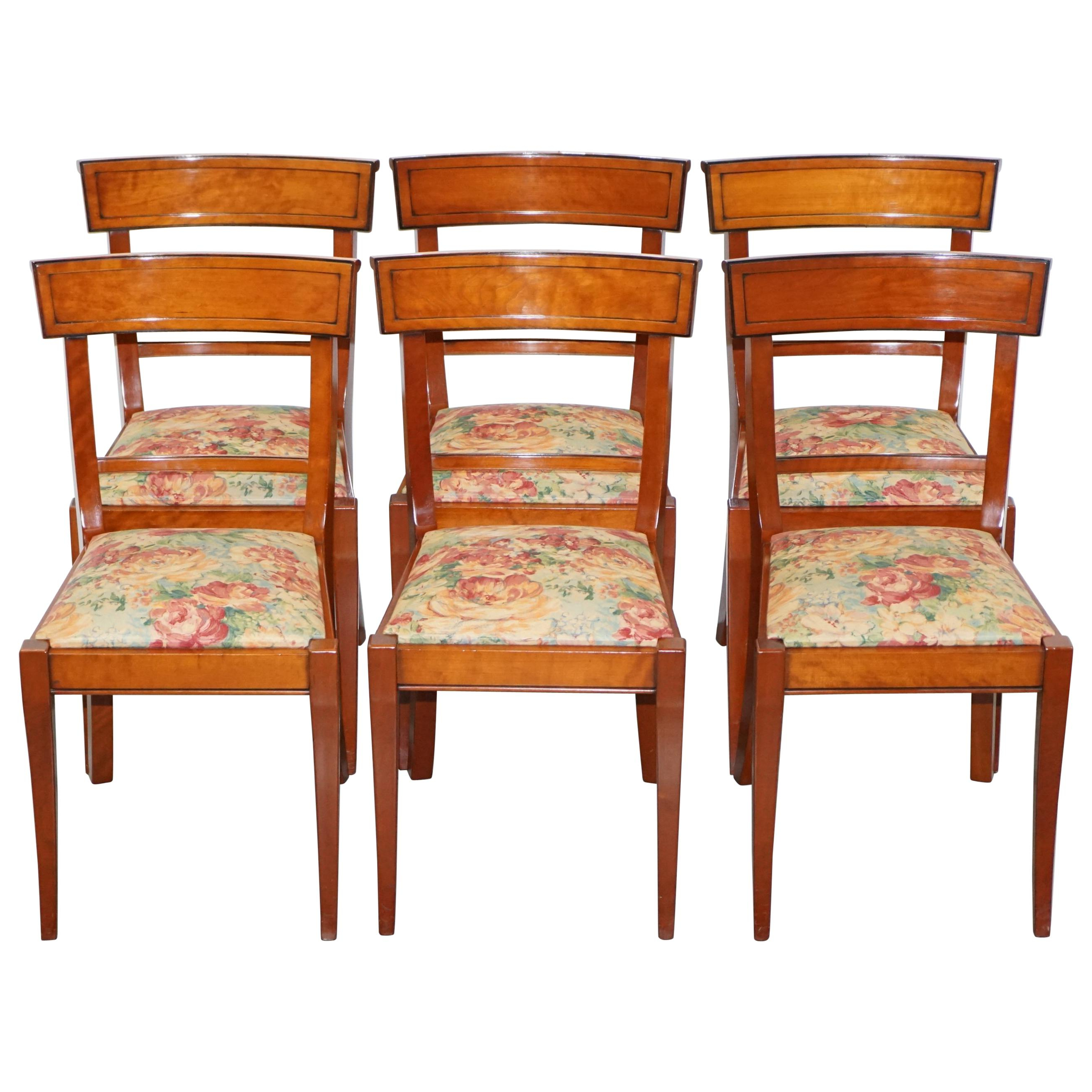 Amir 5 Piece Solid Wood Dining Sets (Set Of 5) In Well Known Set Of 6 Grange France Solid Cherry Wood Dining Chairs Floral (View 24 of 25)