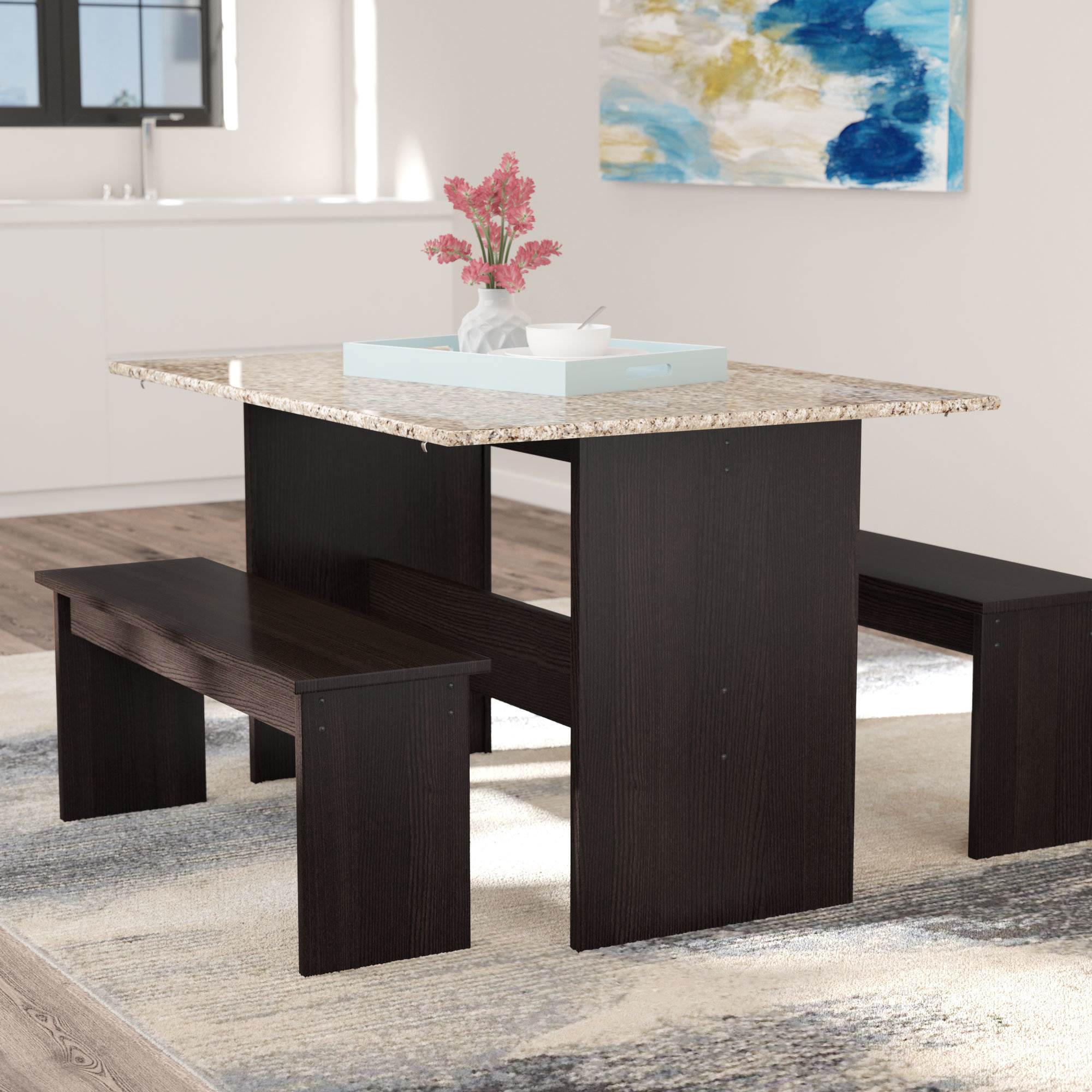 Andover Mills Ryker 3 Piece Dining Set & Reviews (View 2 of 25)