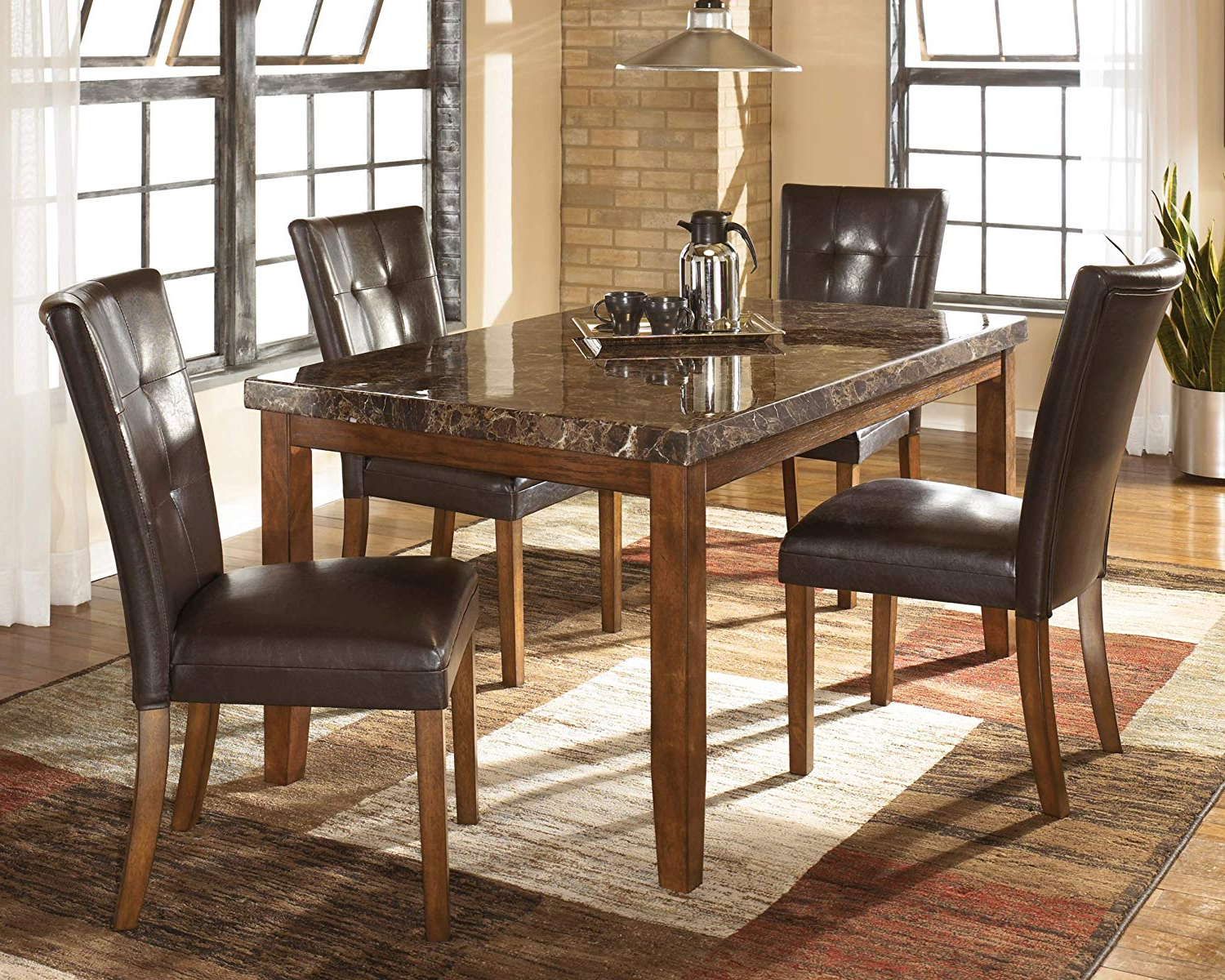 Anette 3 Piece Counter Height Dining Sets With Preferred Amazon – Ashley Furniture Signature Design – Lacey Dining Room (View 10 of 25)